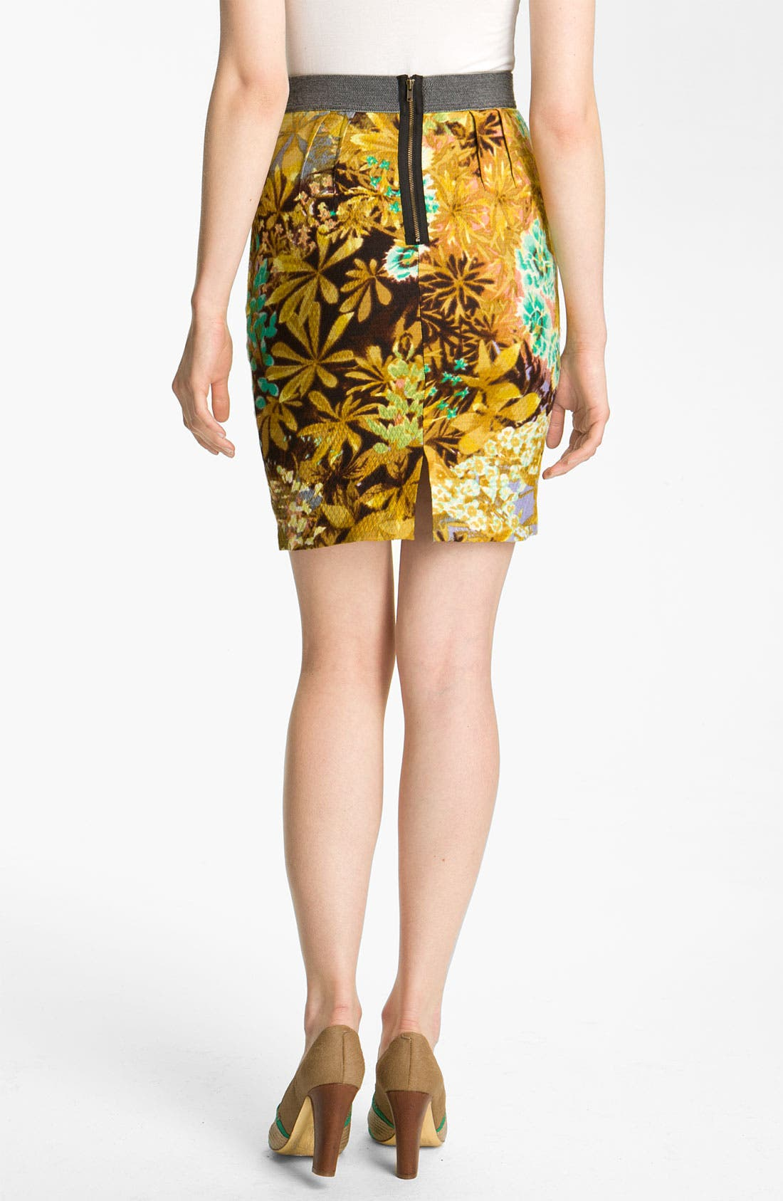 Alternate Image 2  - Tracy Reese Floral Print Narrow Skirt