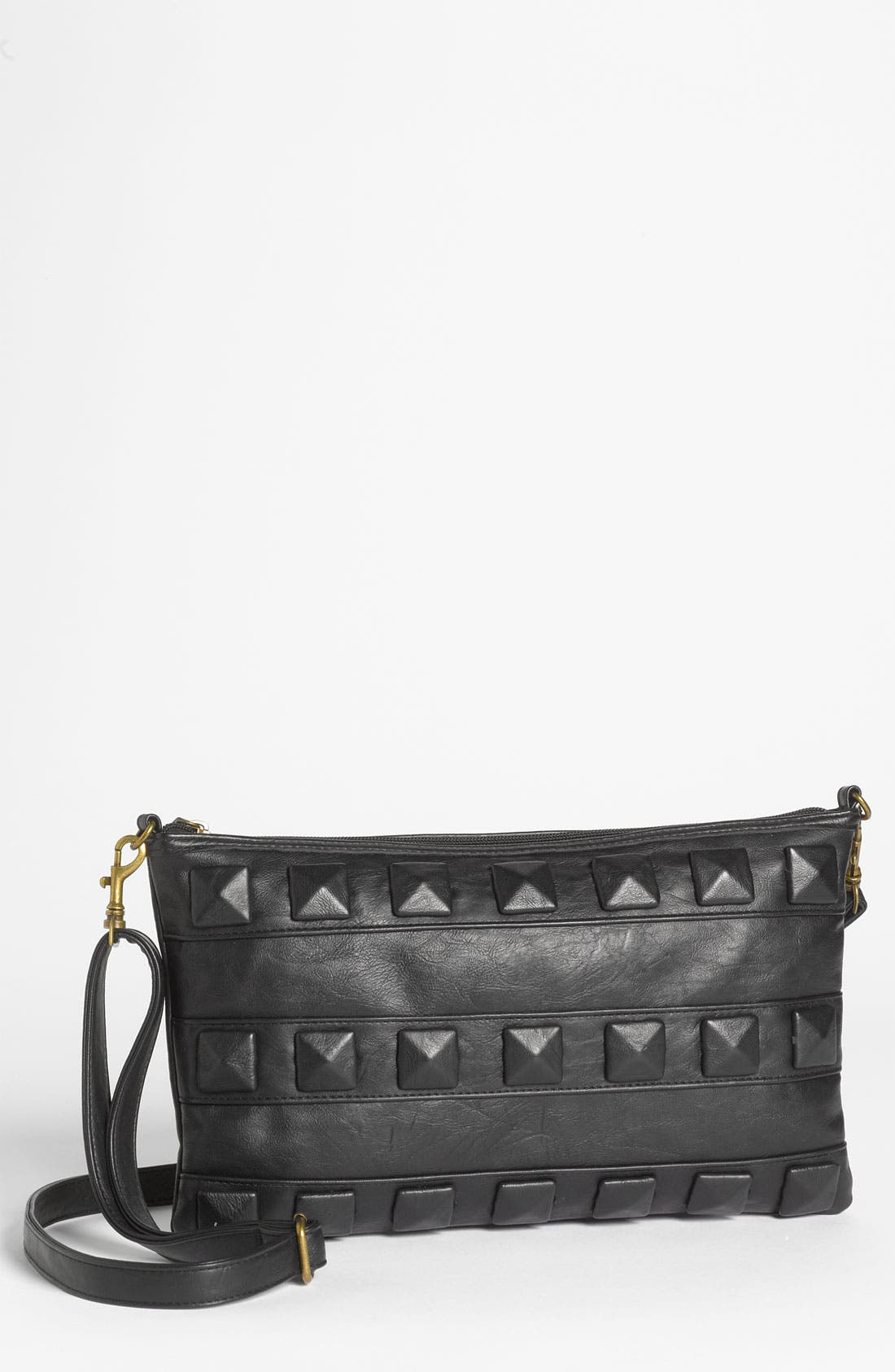 Alternate Image 1 Selected - Lulu Studded Faux Leather Crossbody Bag