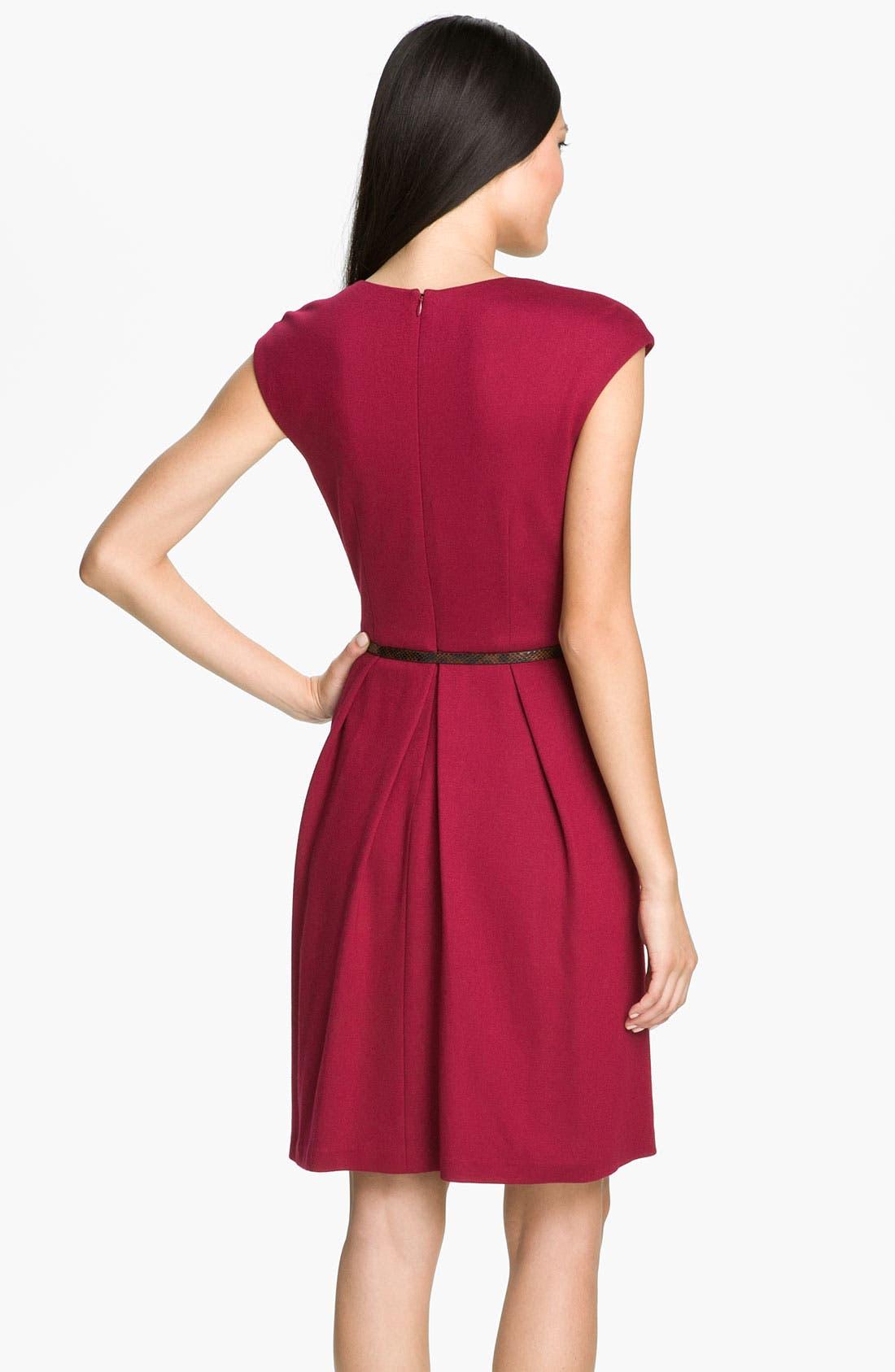 Alternate Image 2  - Maggy London Belted Ponte Knit Fit & Flare Dress