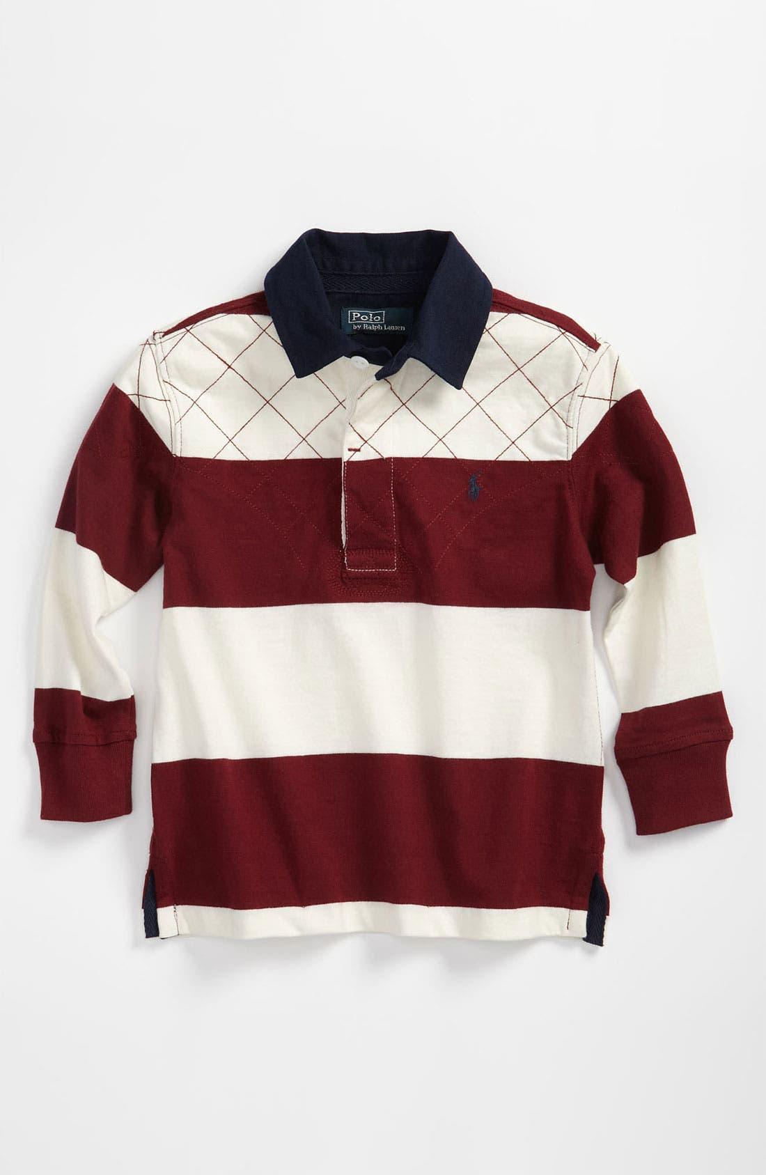 Alternate Image 1 Selected - Ralph Lauren Rugby Stripe Shirt (Toddler)