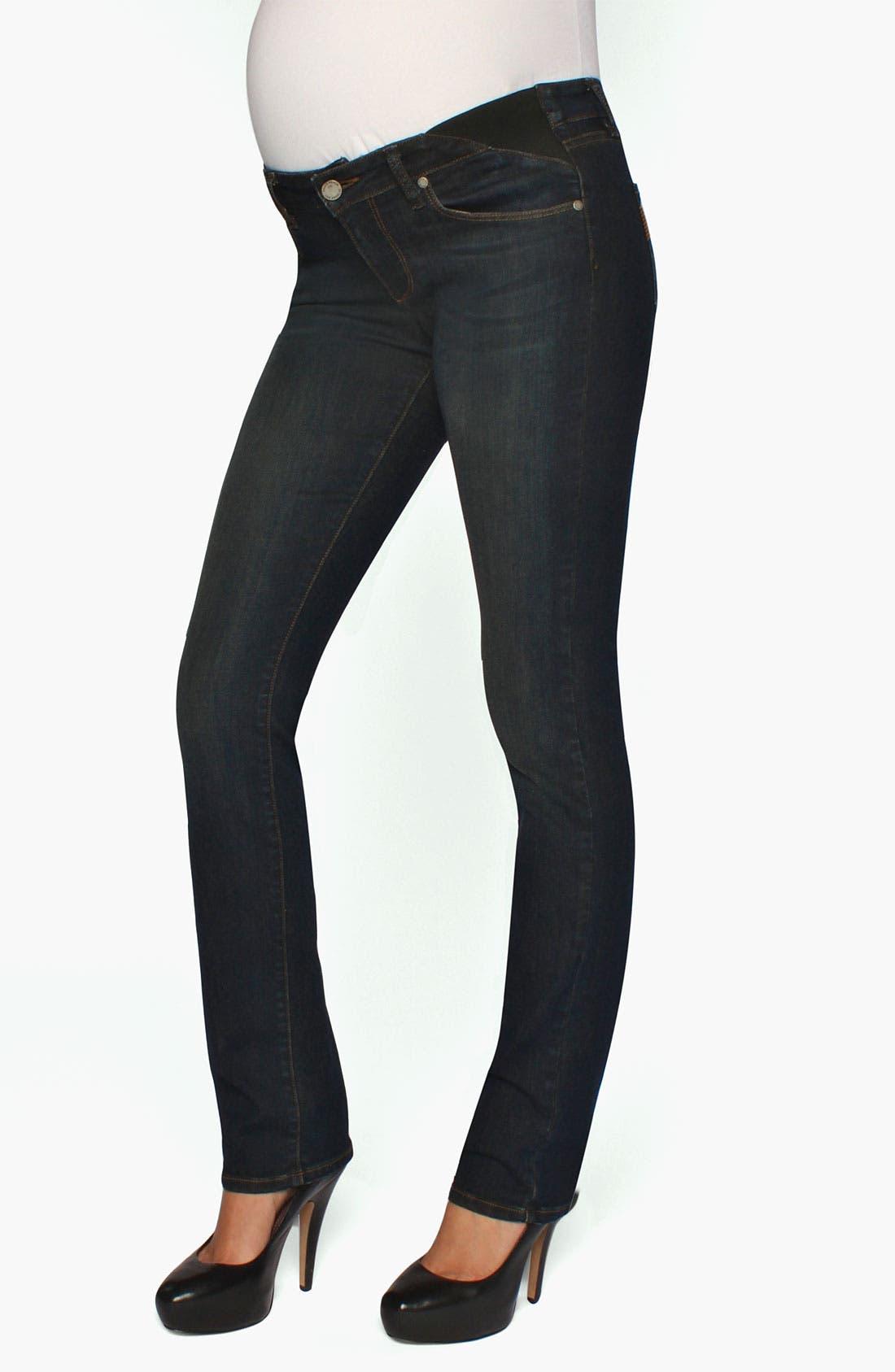 Alternate Image 2  - Paige Denim 'Skyline' Maternity Straight Leg Jeans (Fairbanks)