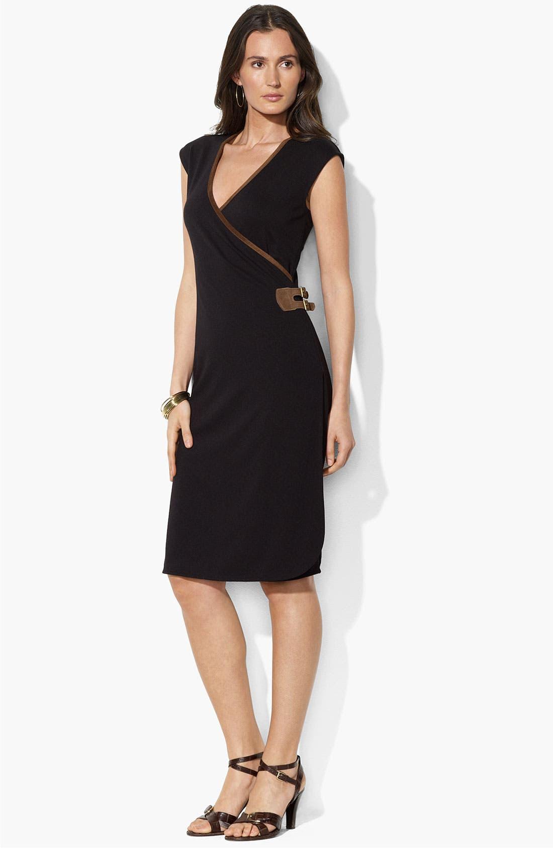 Alternate Image 1 Selected - Lauren Ralph Lauren Faux Suede Trim Dress