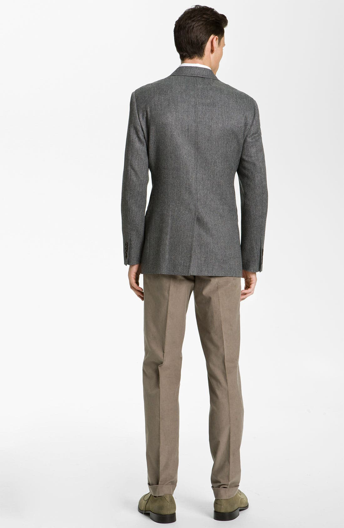 Alternate Image 5  - Brooks Brothers Herringbone Sportcoat