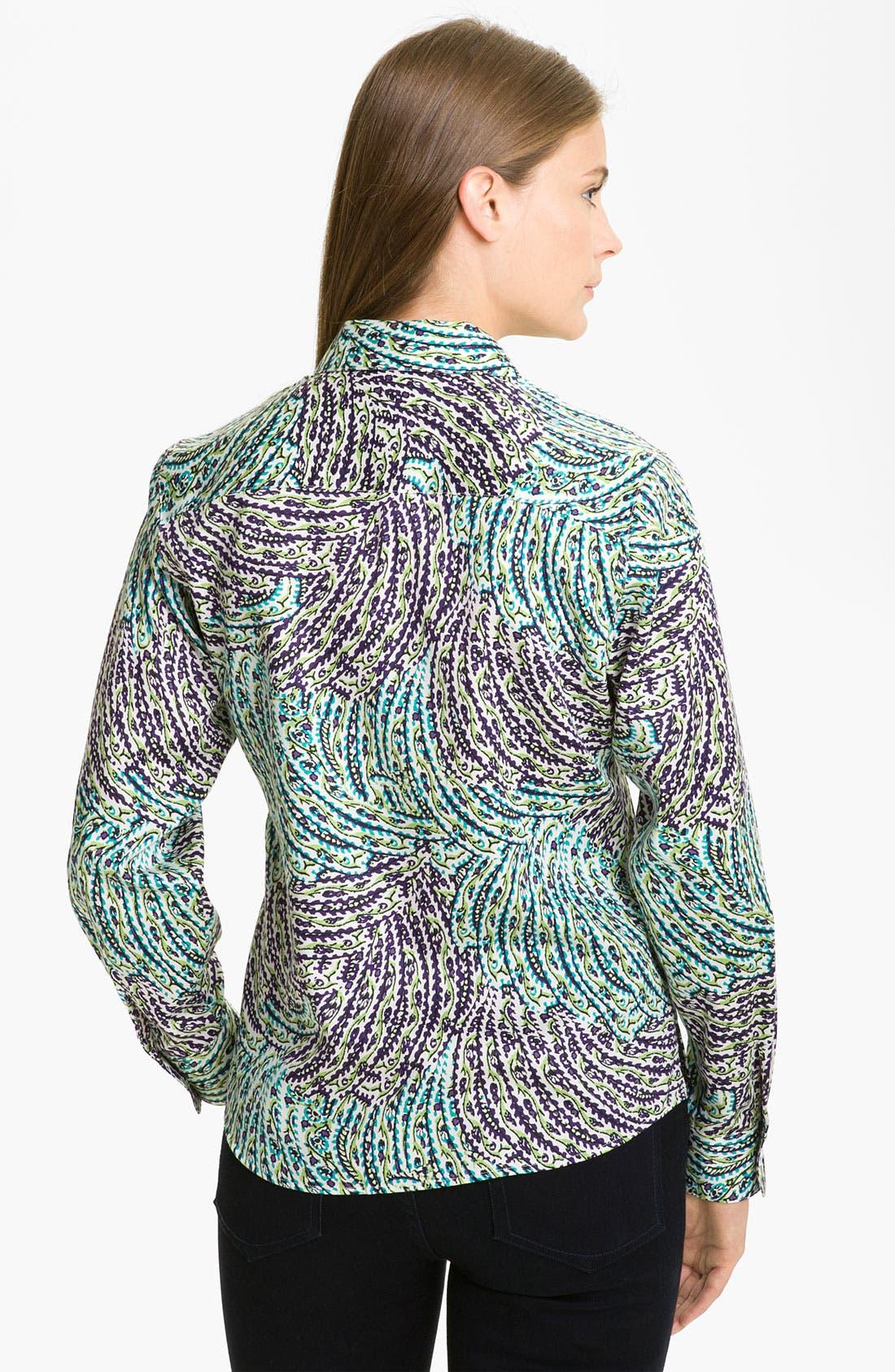 Alternate Image 2  - Foxcroft Garden Print Shirt