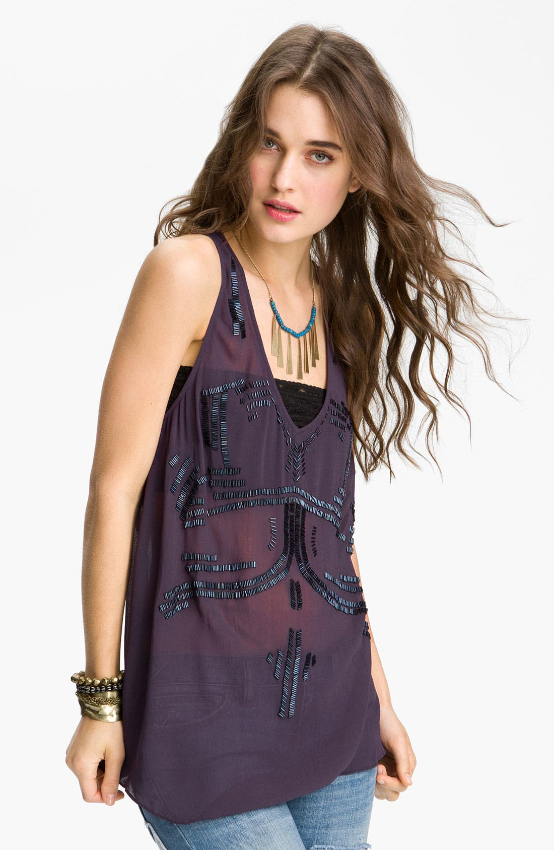 Main Image - Free People 'Bead It' Embellished Tank