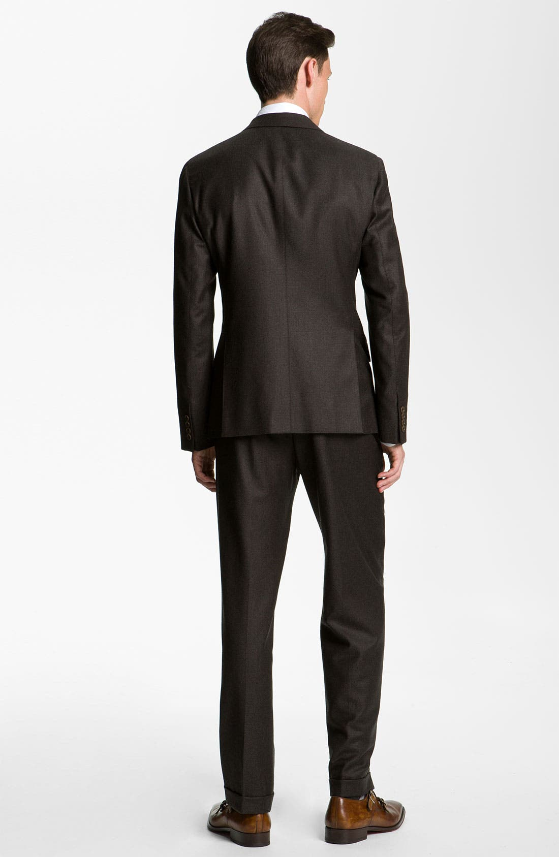 Alternate Image 3  - Armani Collezioni 'Sartorial' Double Breasted Trim Fit Suit