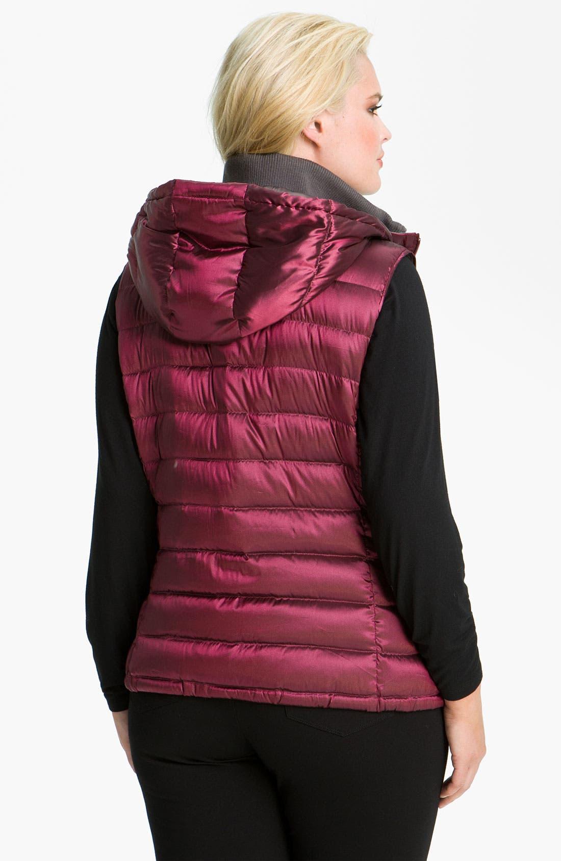 Alternate Image 2  - Bernardo Iridescent Down Vest (Plus)