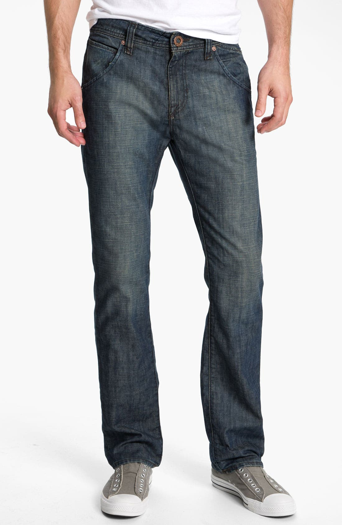 Alternate Image 2  - Volcom 'Nova' Slim Straight Leg Jeans (Naz) (Online Only)