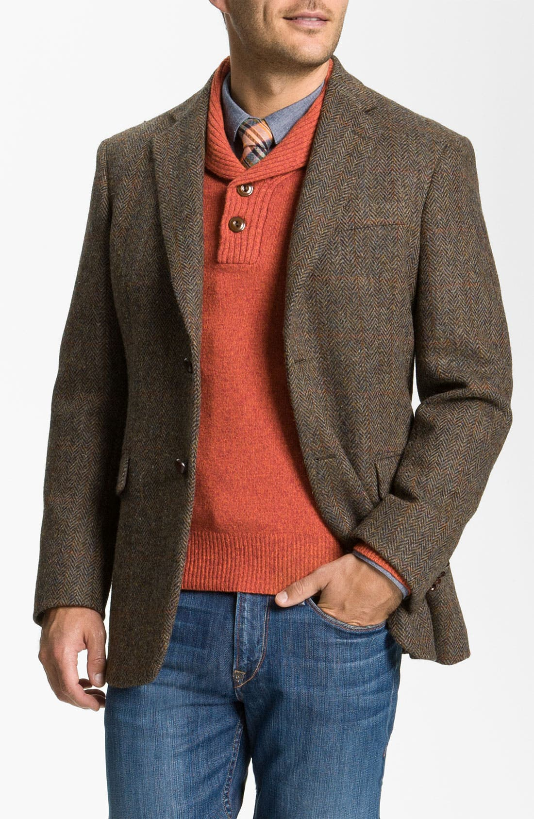 Alternate Image 1 Selected - John W. Nordstrom® Herringbone Sportcoat