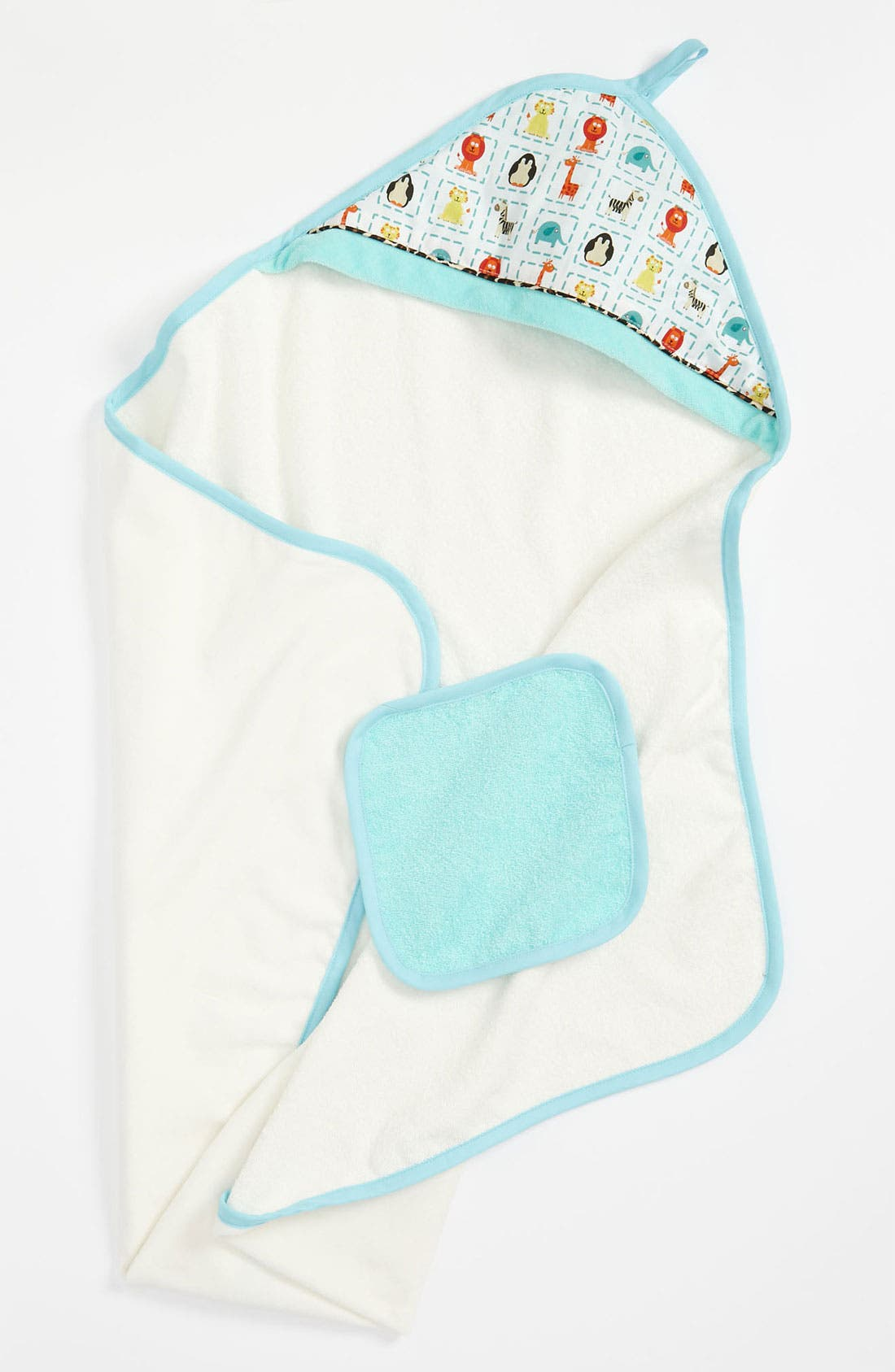 Alternate Image 1 Selected - Baby JaR Hooded Towel & Washcloth (Infant)