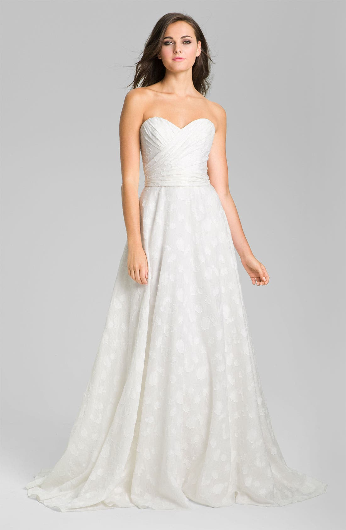 Alternate Image 1 Selected - Theia Fil Coupe Jacquard Sweetheart Gown