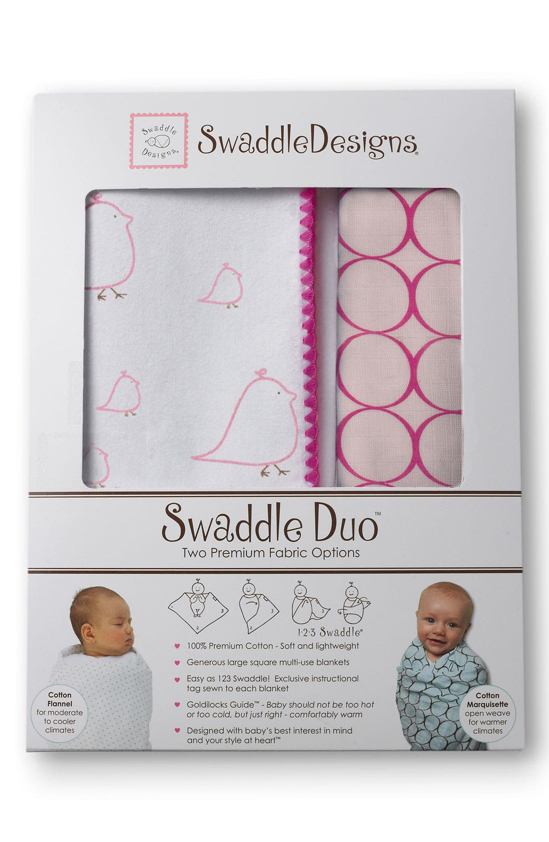 Main Image - Swaddle Designs 'Chickies Duo' Blanket (Set of 2)