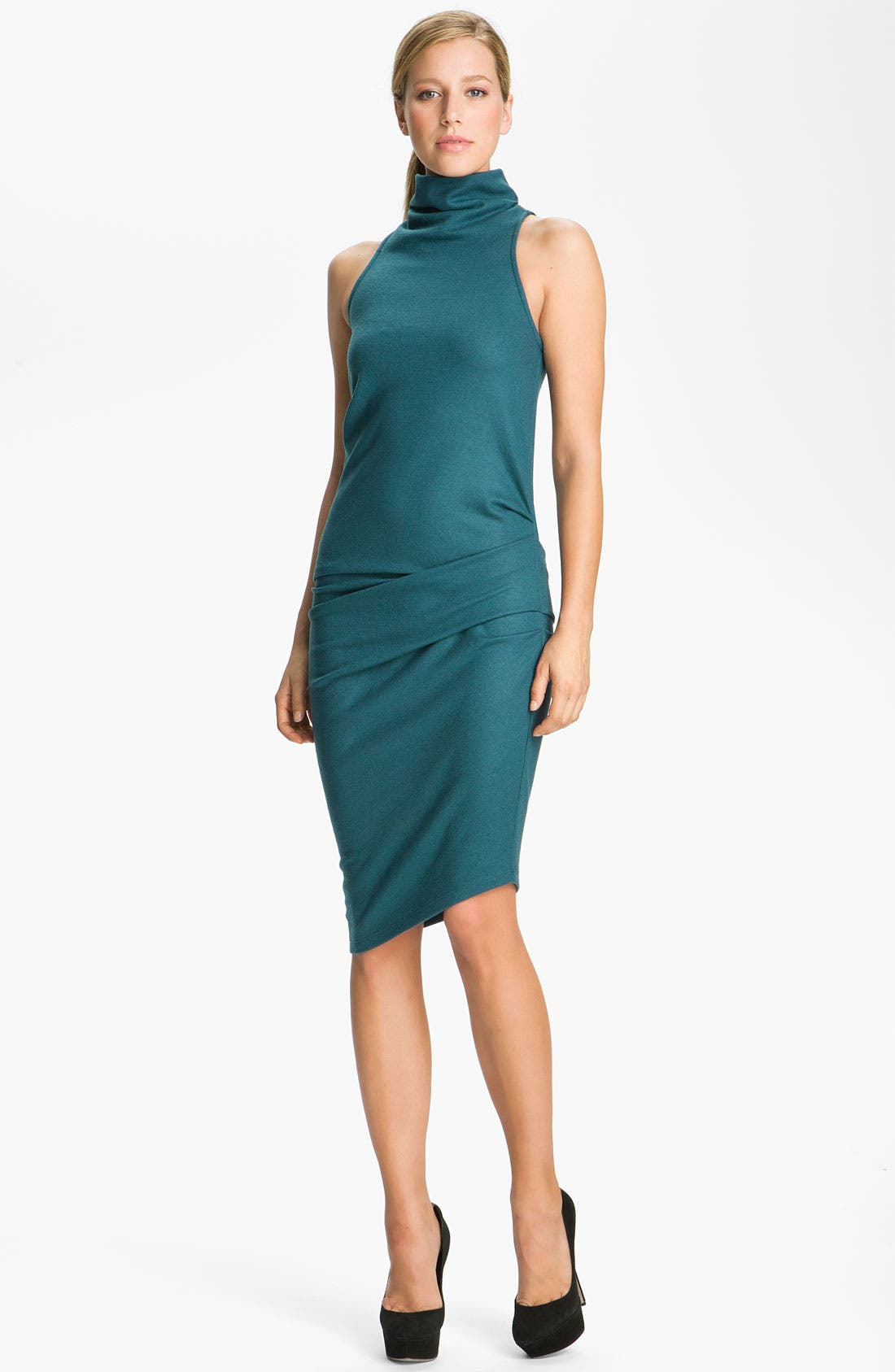 Main Image - Halston Heritage Boiled Wool Jersey Dress