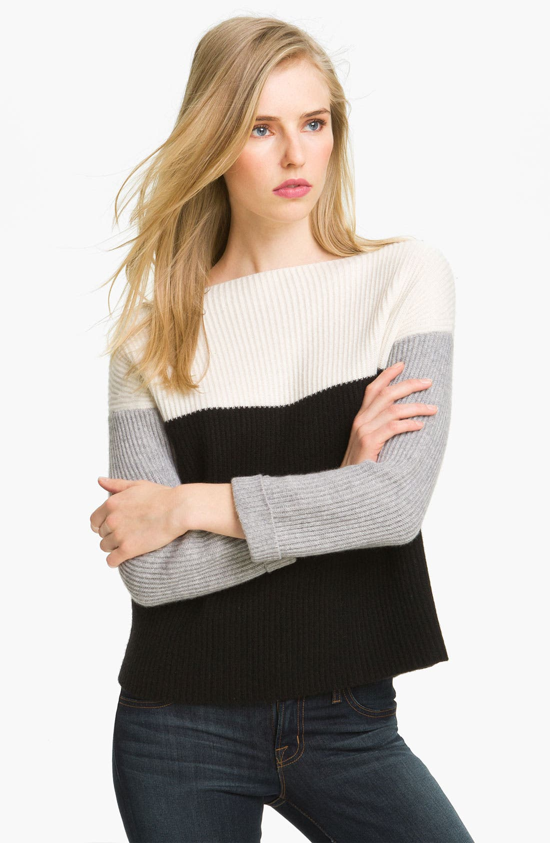 Alternate Image 1 Selected - autumn cashmere Colorblock Cashmere Pullover
