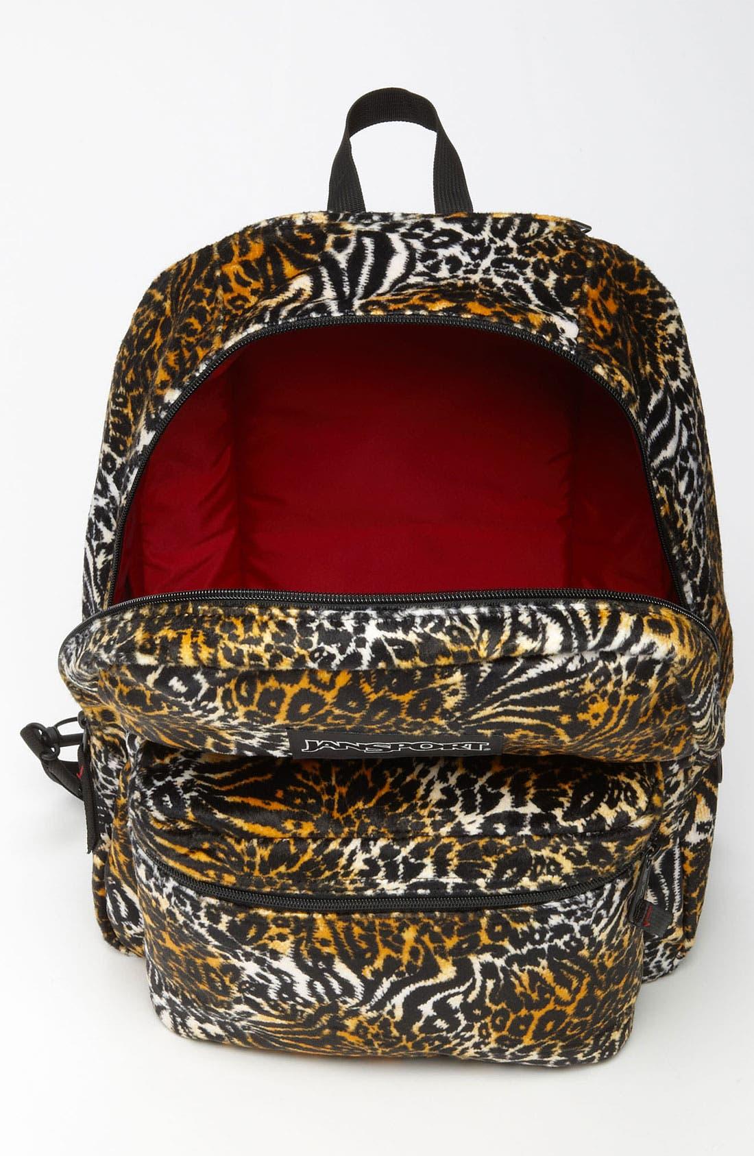 Alternate Image 5  - Jansport Animal Print Reversible Backpack