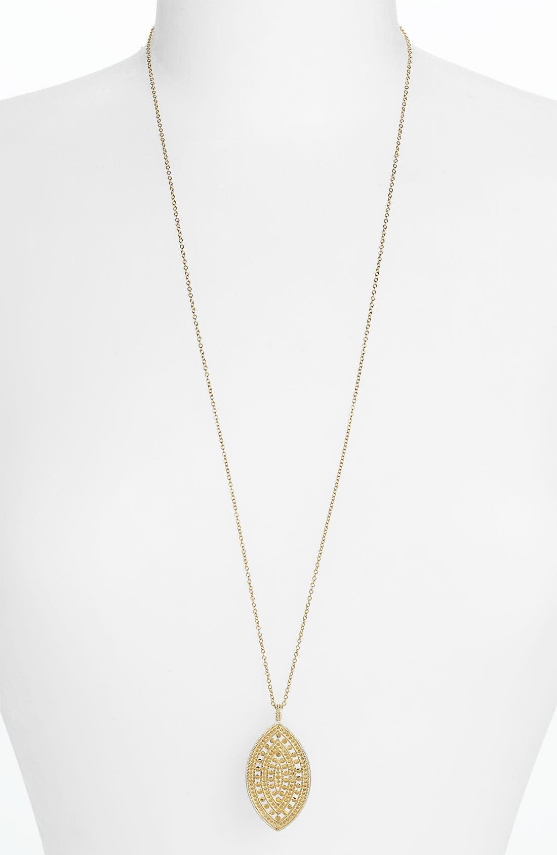 Alternate Image 2  - Anna Beck 'Lombok' Long Leaf Pendant Necklace