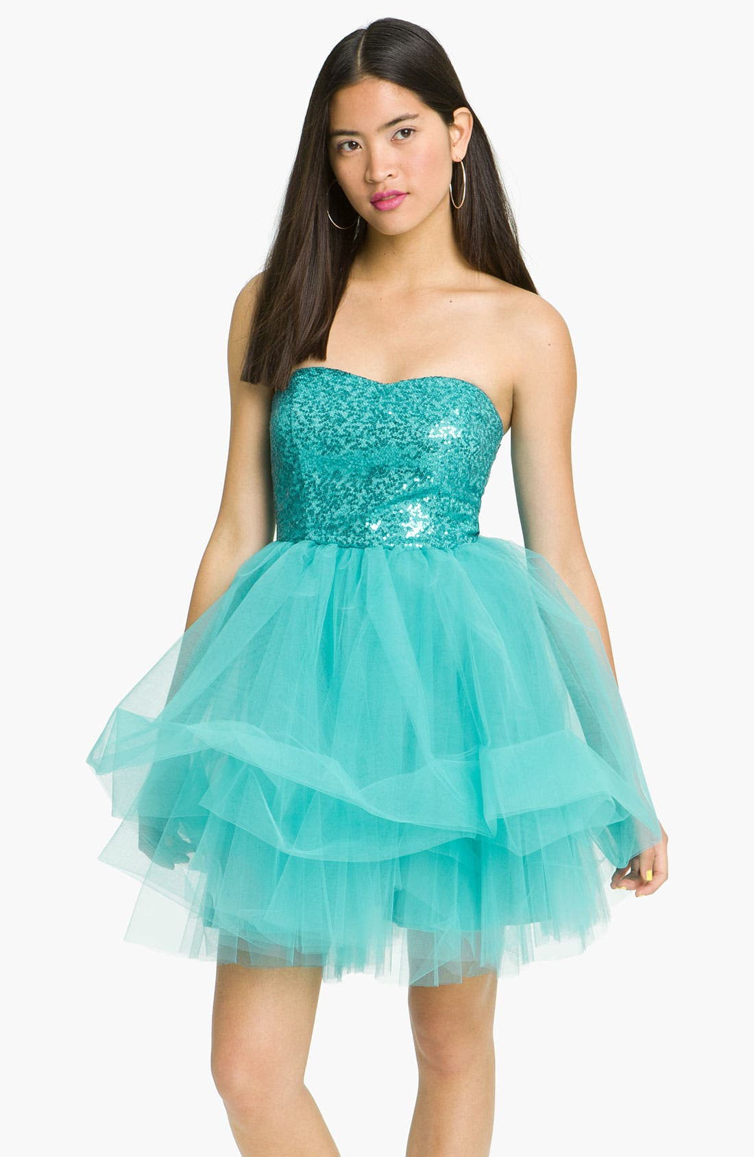 Main Image - Trixxi 'Ballerina' Dress (Juniors)