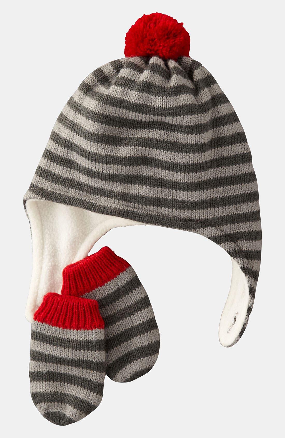 Alternate Image 1 Selected - Mini Boden Hat & Mittens (Infant & Toddler)
