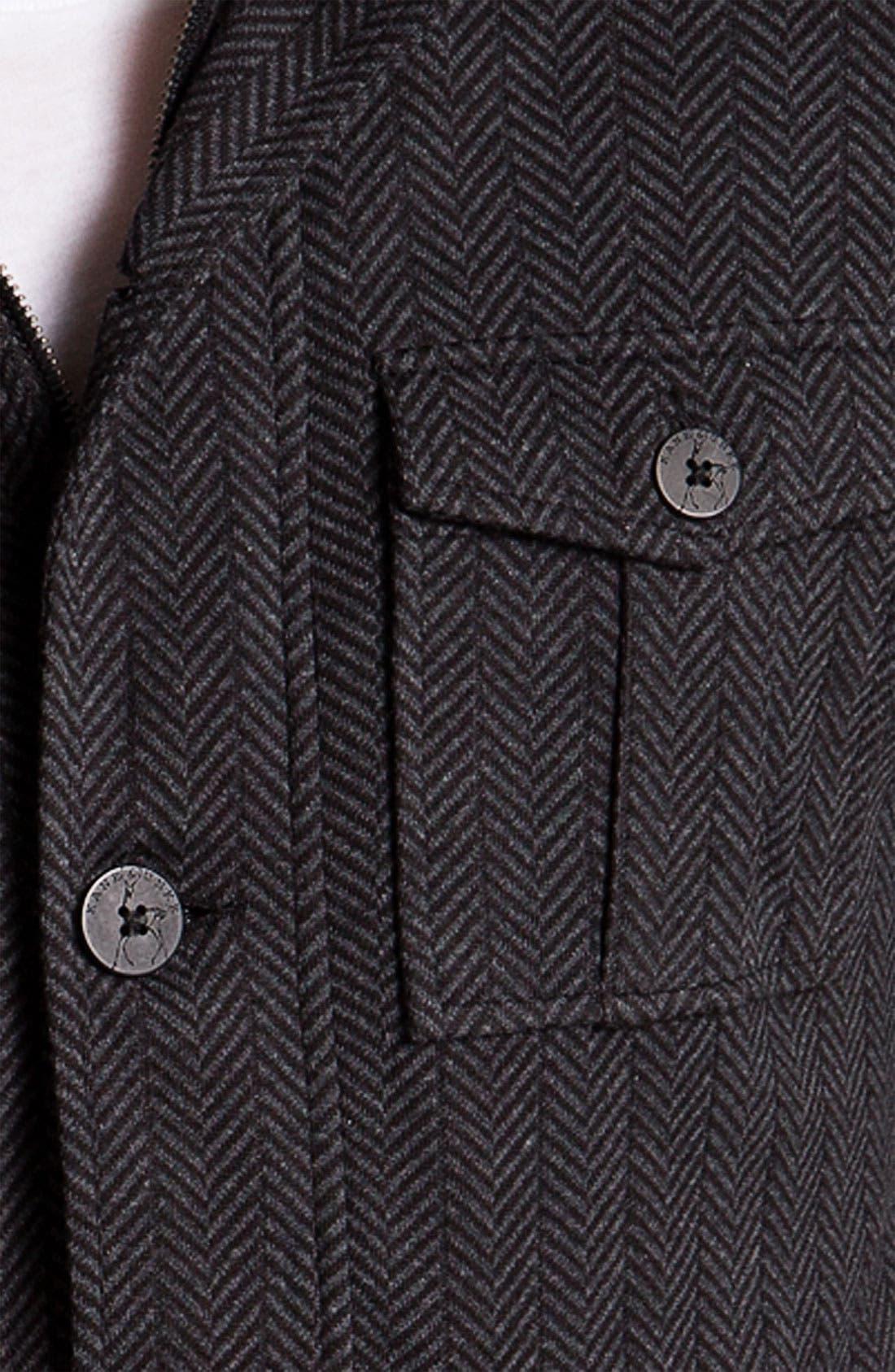 Alternate Image 3  - Kane & Unke Herringbone Trim Fit Jacket