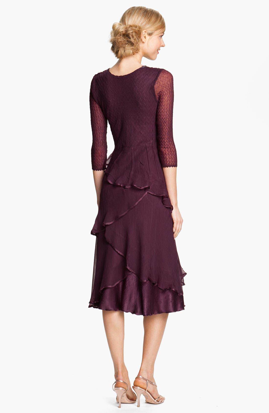 Alternate Image 2  - Komarov Embellished Tiered Chiffon Dress