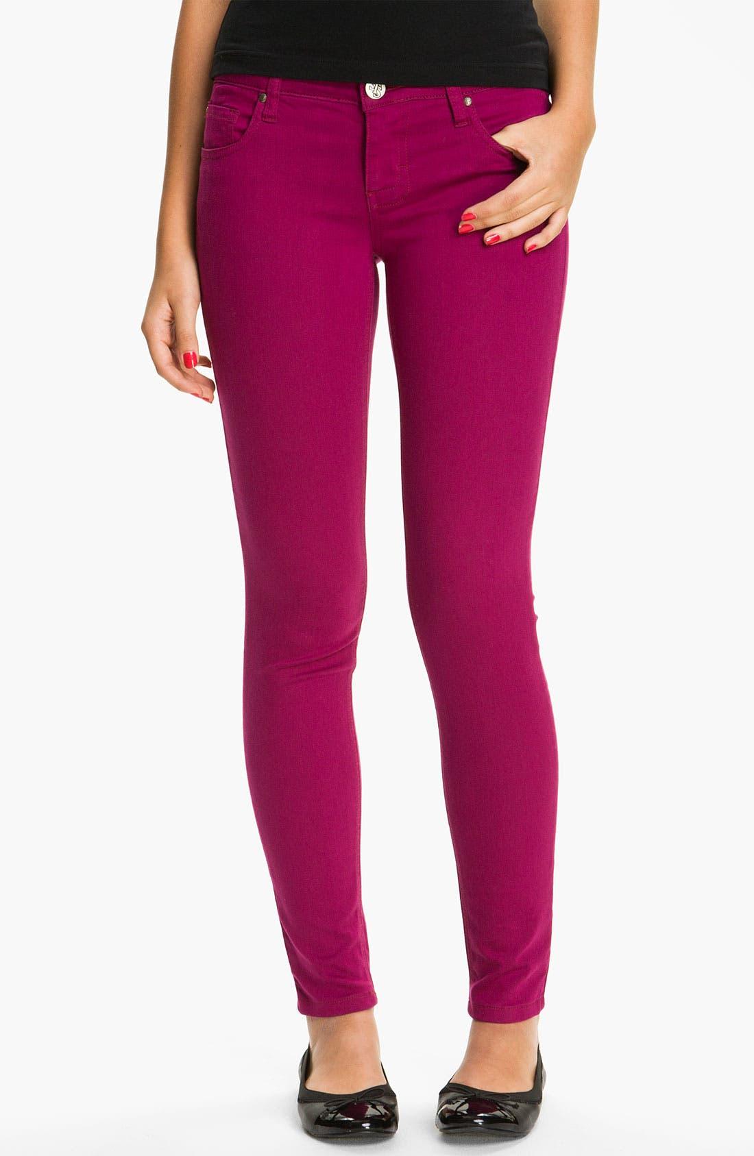 Alternate Image 2  - See Thru Soul 'Fame' Color Denim Skinny Jeans (Juniors)
