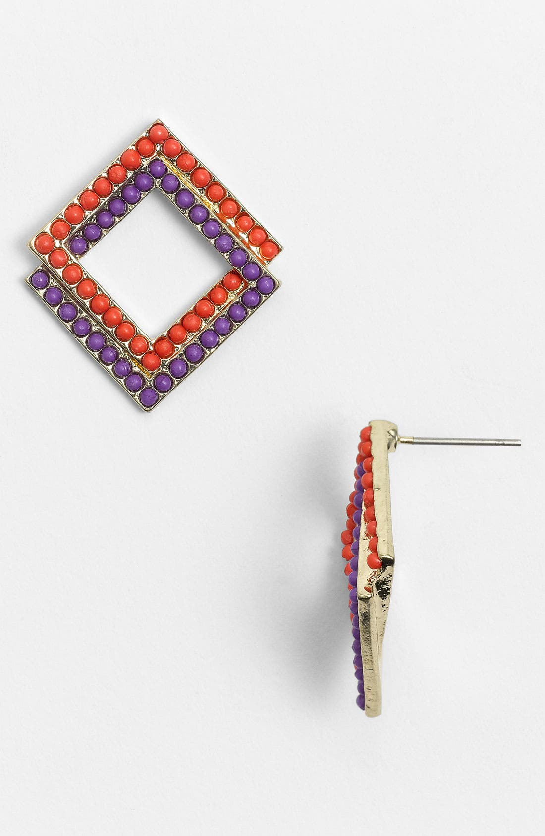 Main Image - Guinevere Open Square Earrings
