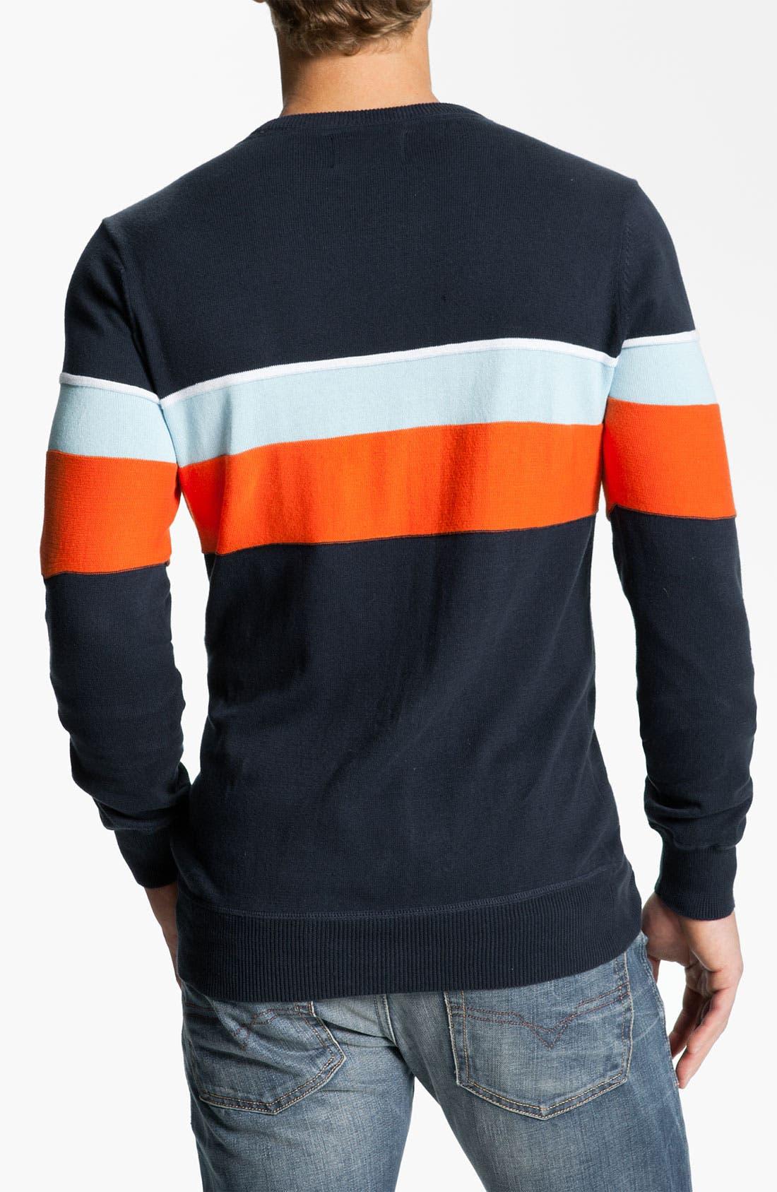 Alternate Image 2  - Hurley 'Hanger' Stripe Crewneck Sweater