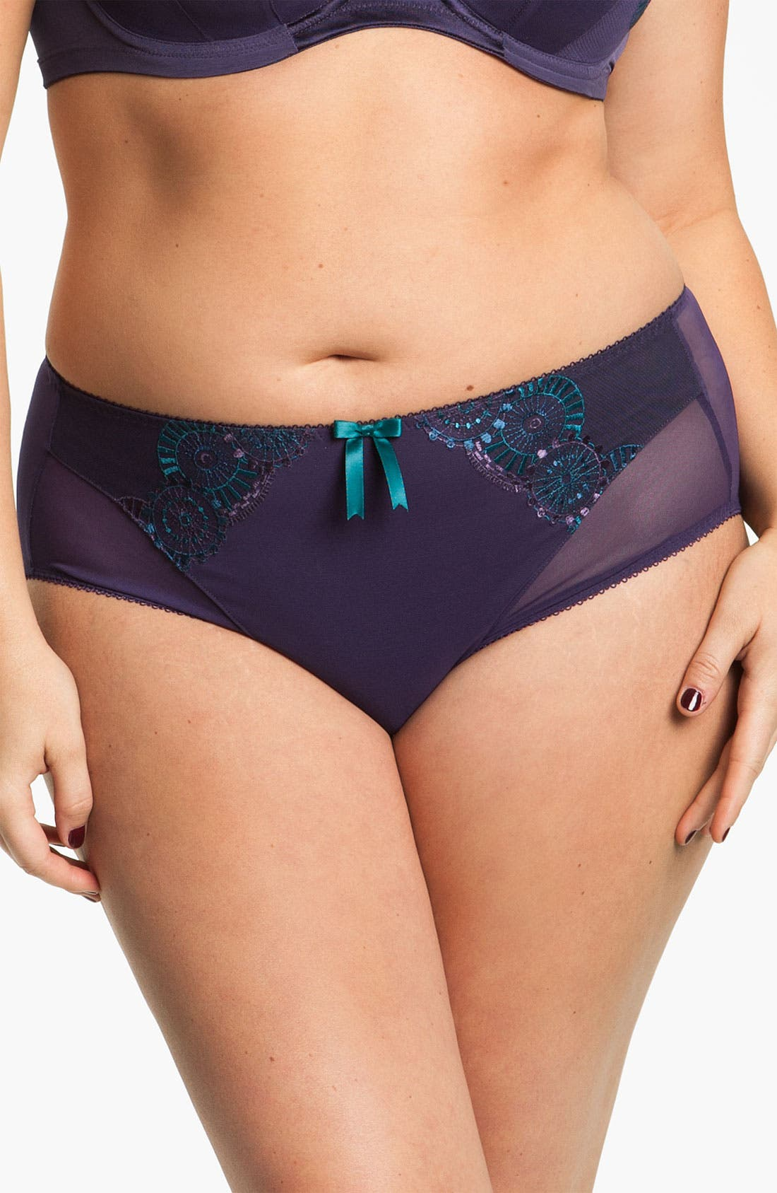 Alternate Image 1 Selected - Elomi 'Paloma' Briefs (Plus Size)