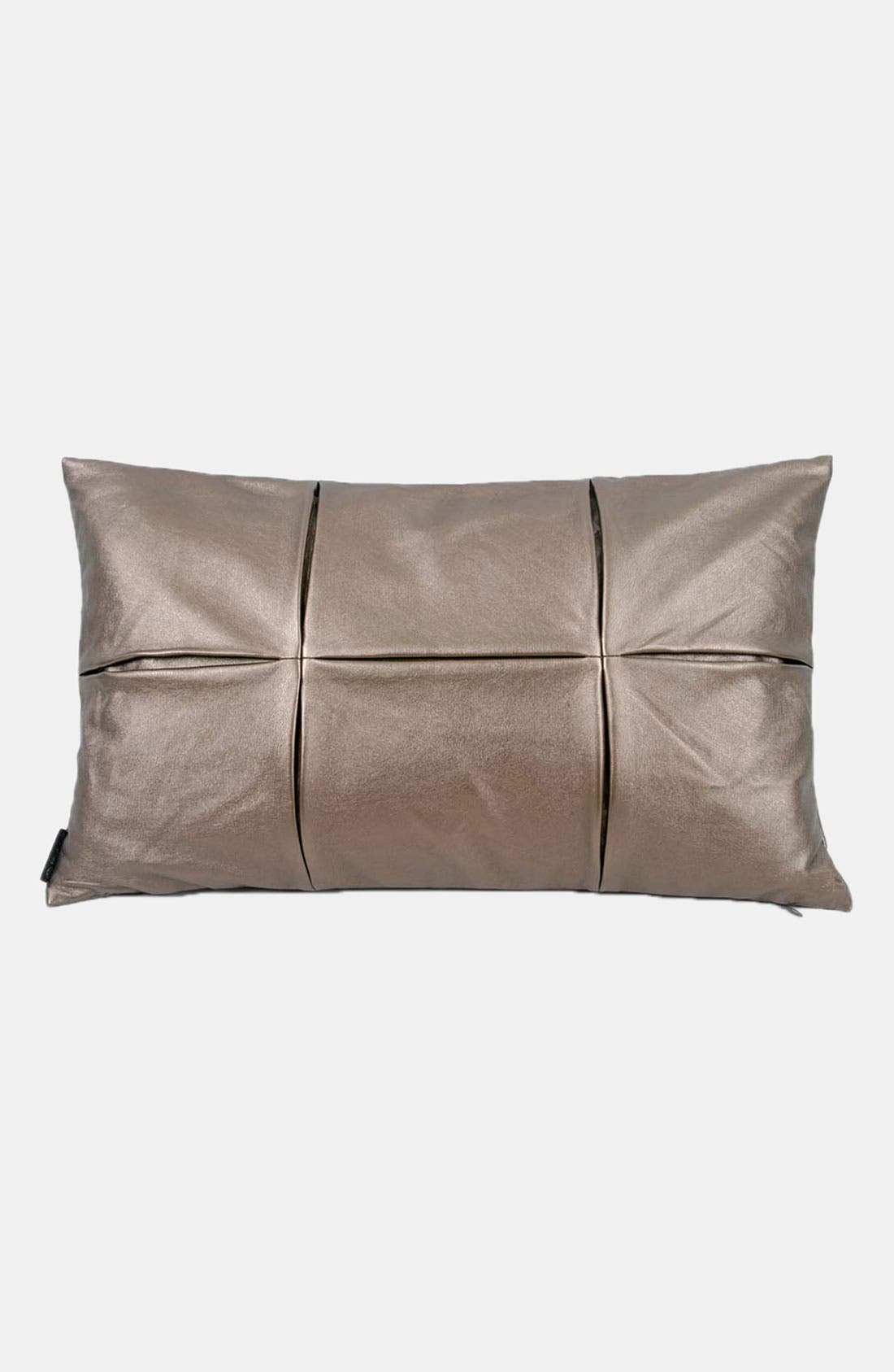 Alternate Image 1 Selected - Blissliving Home 'Society' Faux Leather Pillow (Online Only)