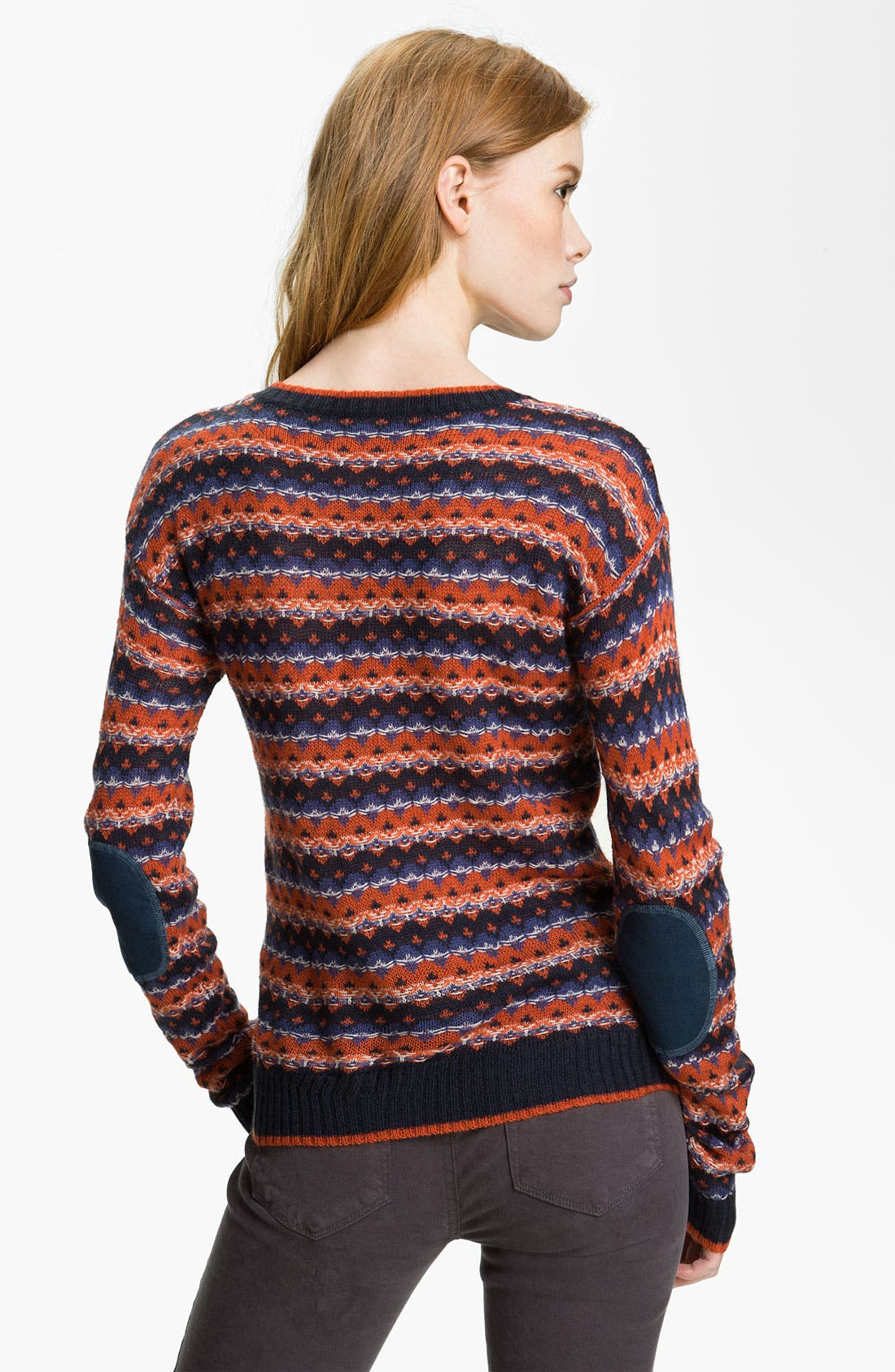 Alternate Image 2  - Hinge® Pattern Crewneck Sweater