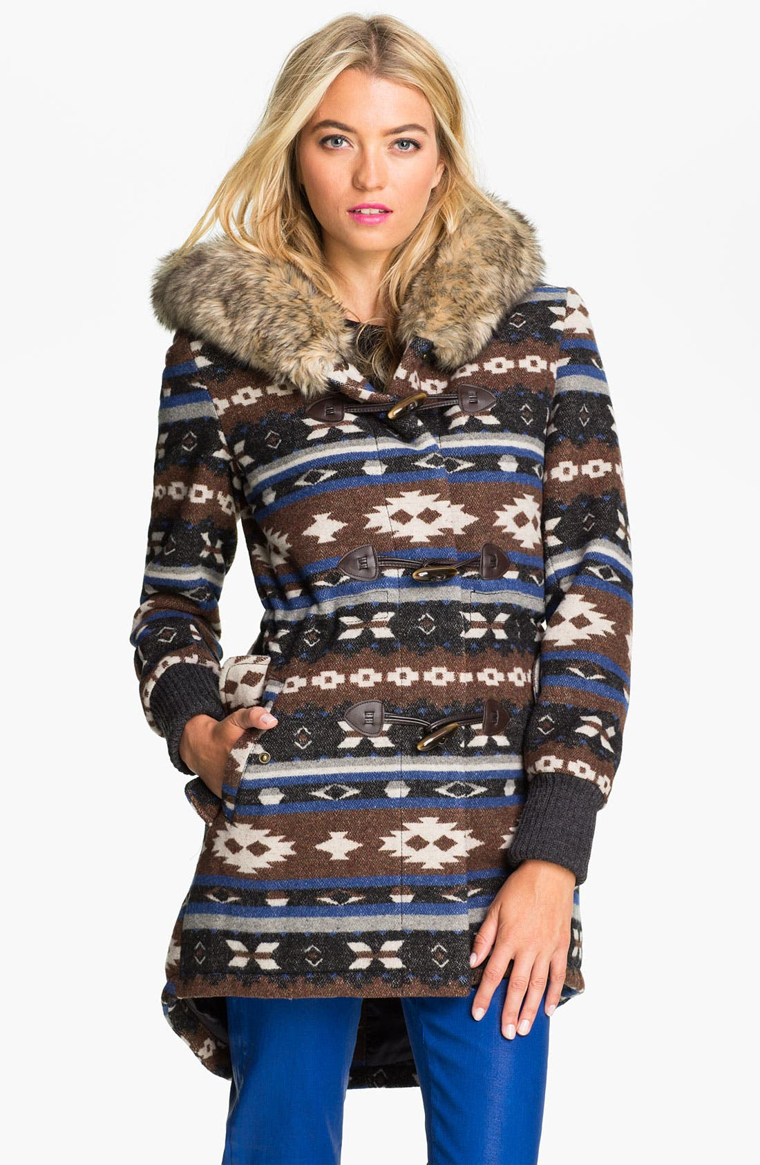 Alternate Image 1 Selected - Buffalo by David Bitton Faux Fur Trim Hooded Anorak