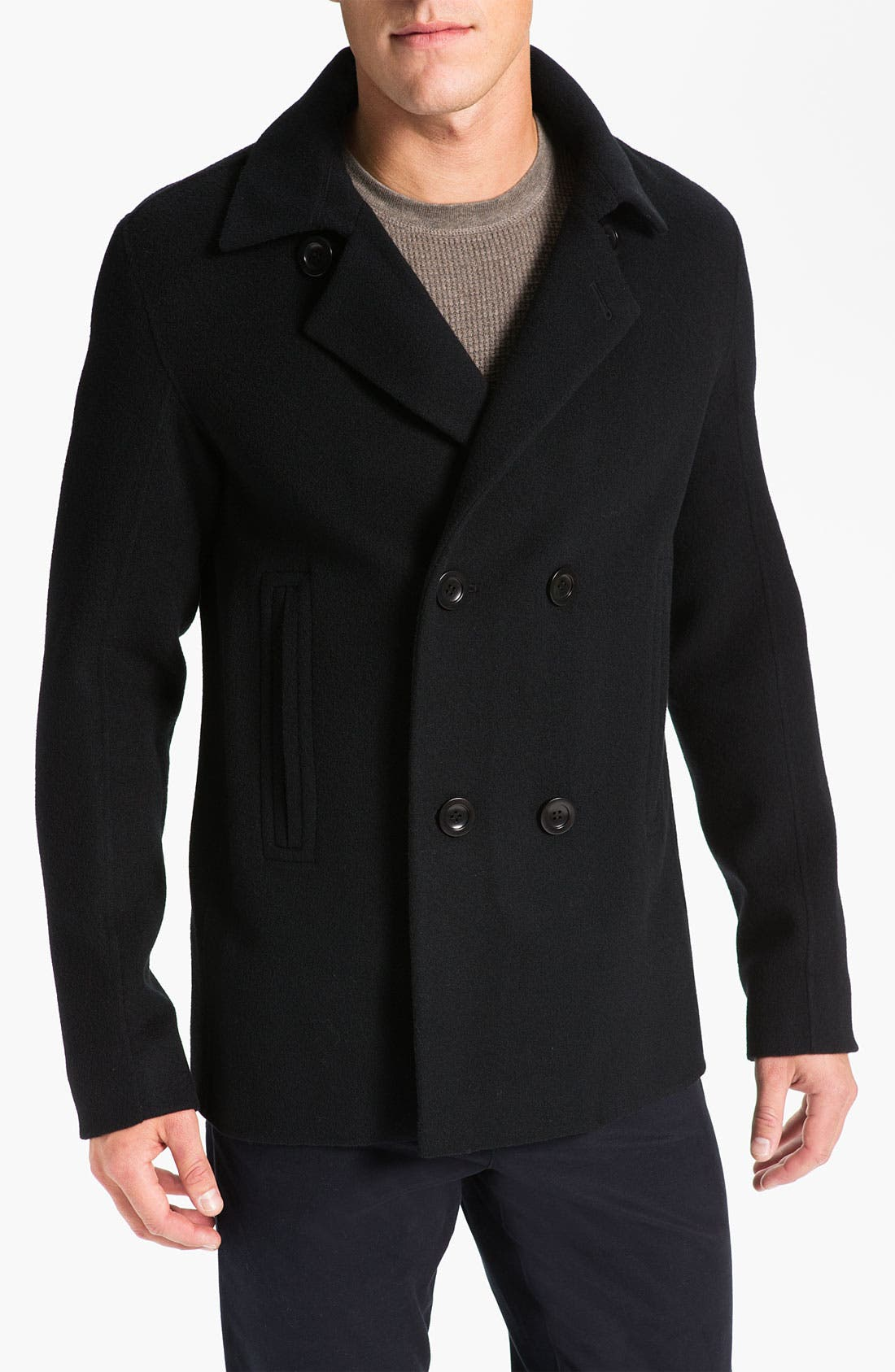 Alternate Image 1 Selected - Vince Double Breasted Peacoat