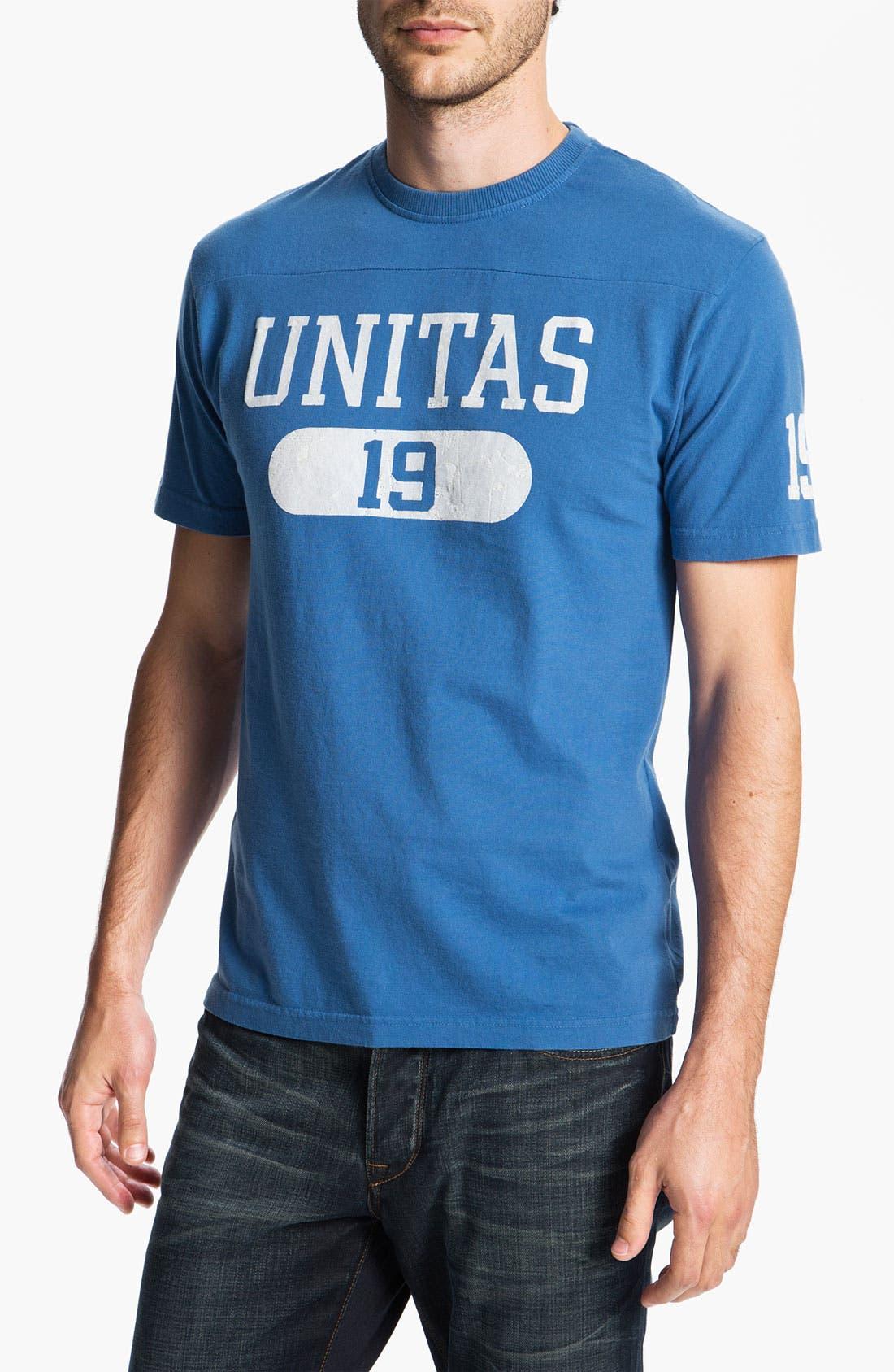 Alternate Image 1 Selected - Red Jacket 'Johnny Unitas - Over Under' T-Shirt