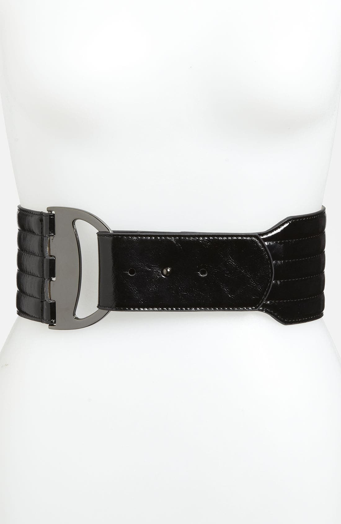 Alternate Image 1 Selected - Steven by Steve Madden Wide Patent Stretch Belt