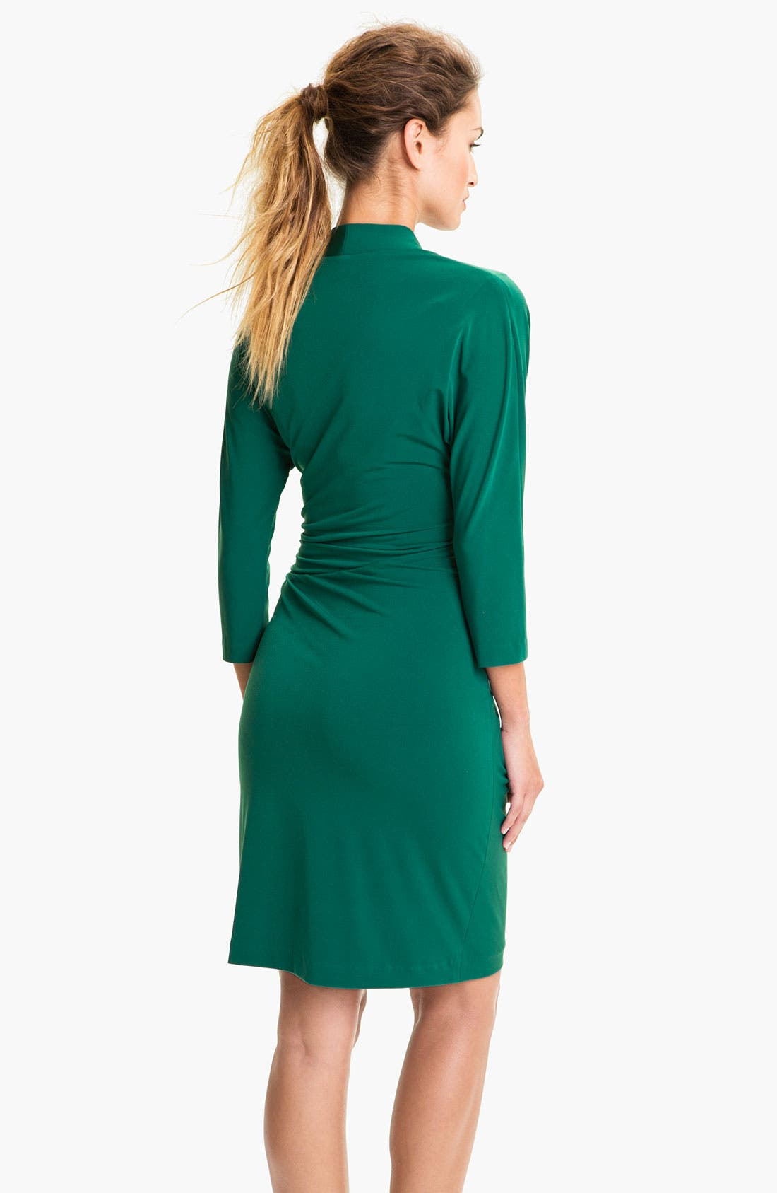 Alternate Image 2  - Suzi Chin for Maggy Boutique Side Gather Jersey Dress