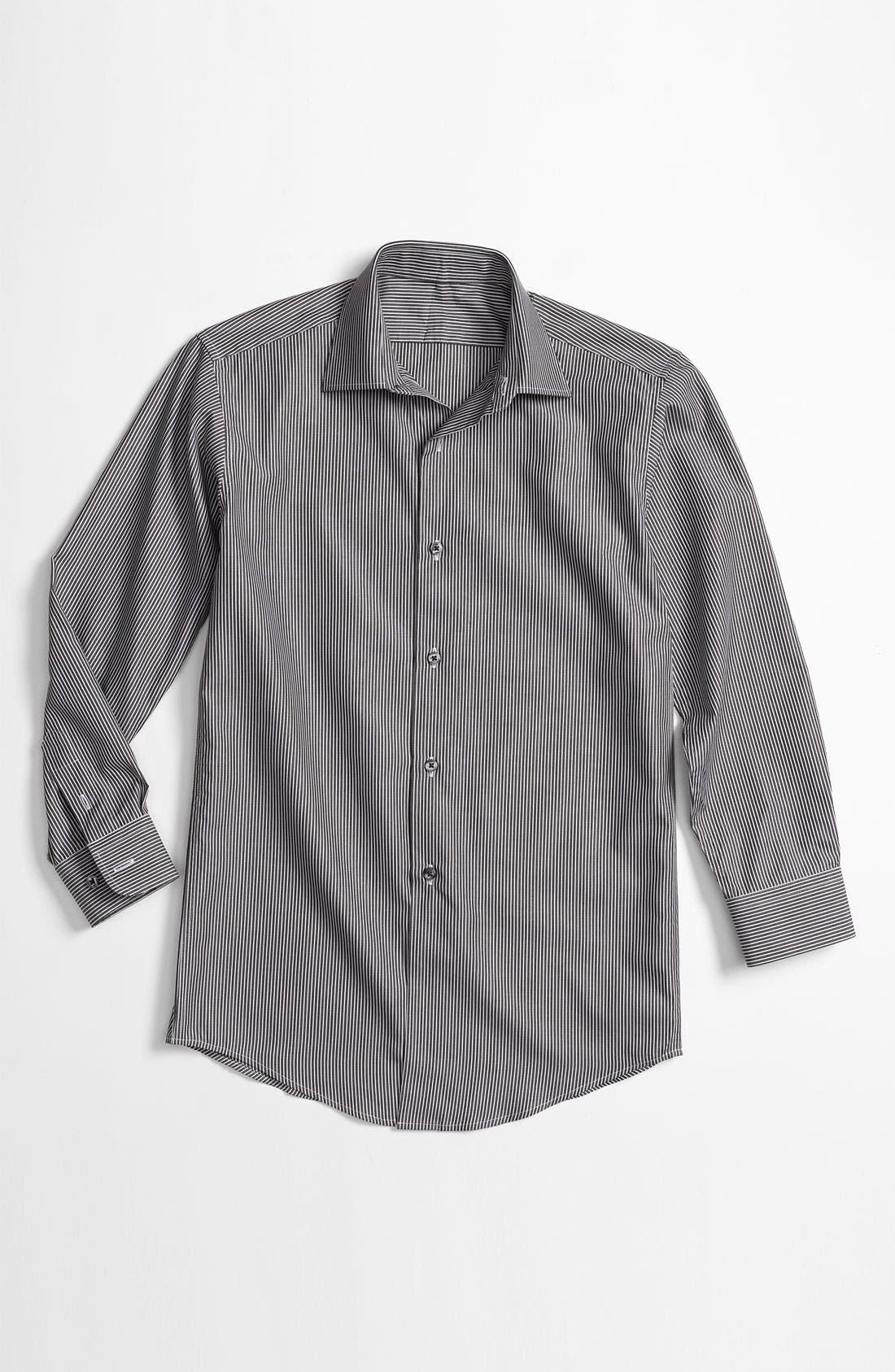 Main Image - John Varvatos Star USA Stripe Dress Shirt (Big Boys)