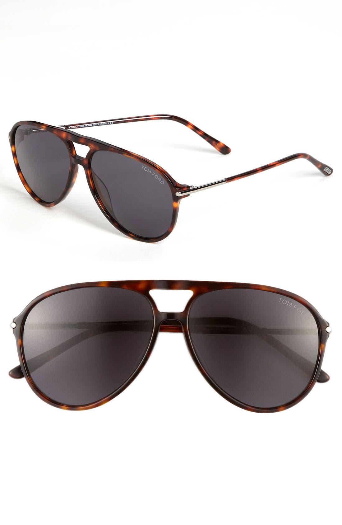 Main Image - Tom Ford 59mm Aviator Sunglasses