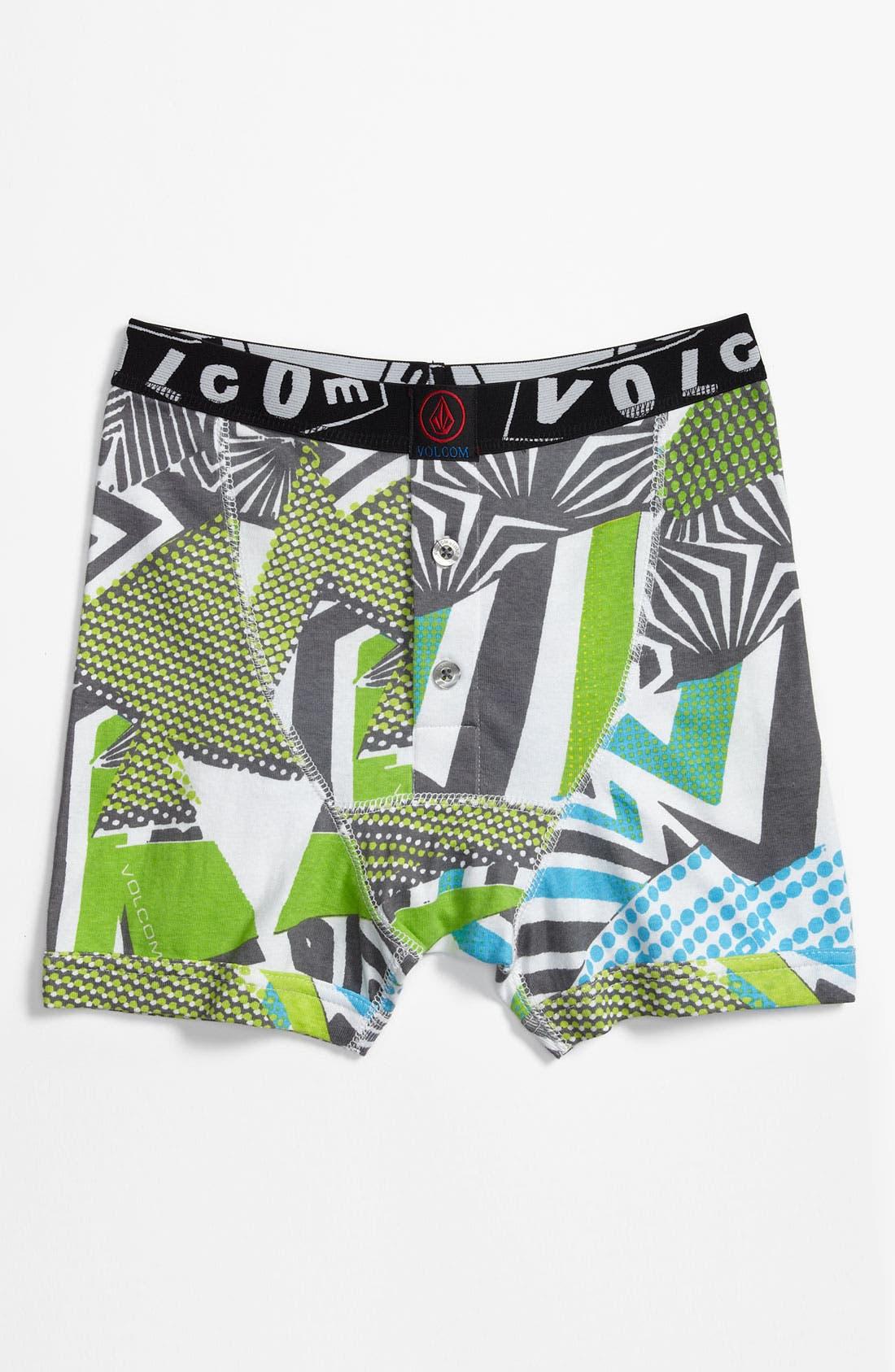 Alternate Image 1 Selected - Volcom 'Maguro' Knit Boxer Briefs (Big Boys)
