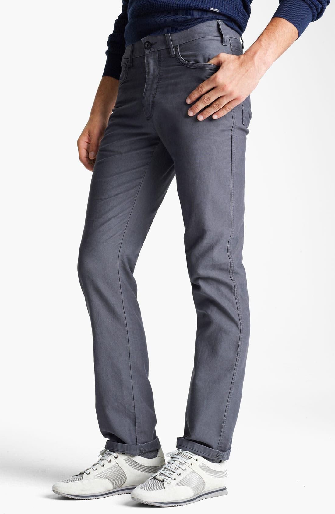Alternate Image 1 Selected - Zegna Sport Five Pocket Cotton Pants