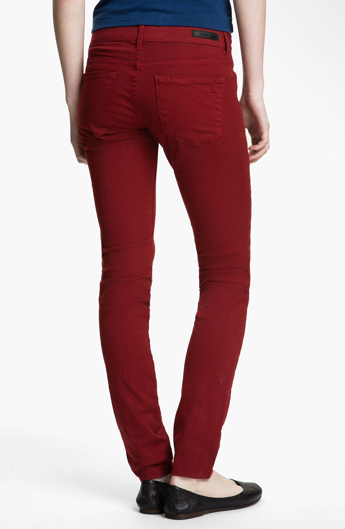 Main Image - Articles of Society 'Mya' Skinny Jeans (Scarlet) (Juniors)