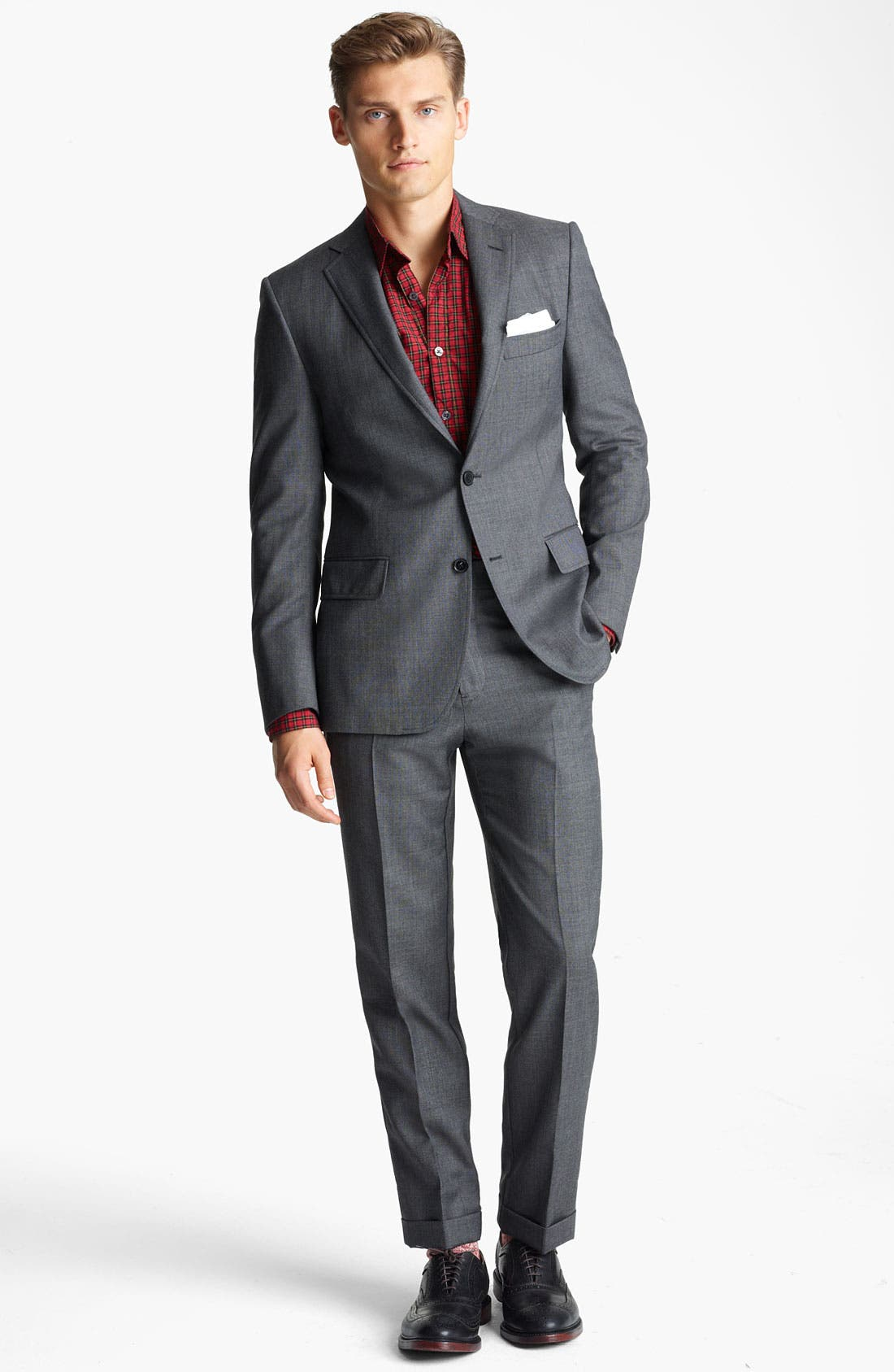 Alternate Image 2  - Billy Reid 'Campbell Nailhead - Heirloom Collection' Wool Suit
