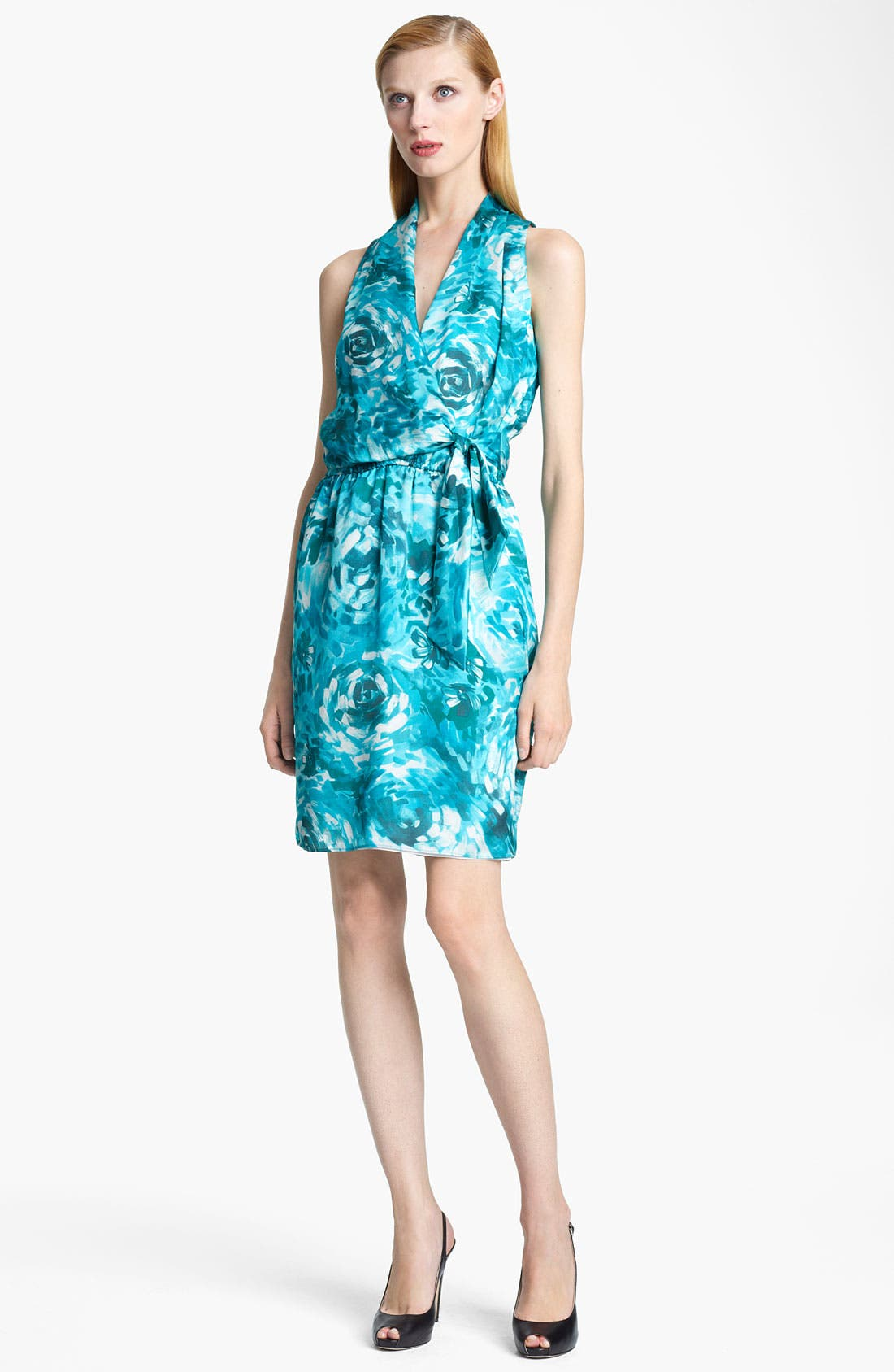 Main Image - Armani Collezioni Floral Print Silk Dress