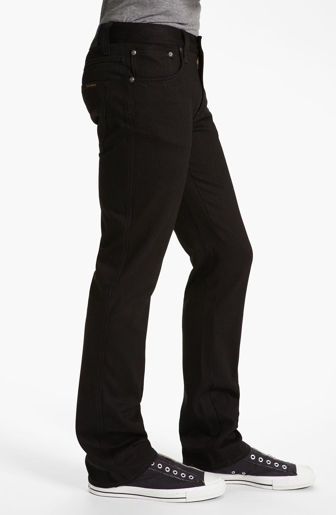 Alternate Image 3  - Nudie Jeans 'Slim Jim' Slim Fit Jeans (Organic Dry Black)