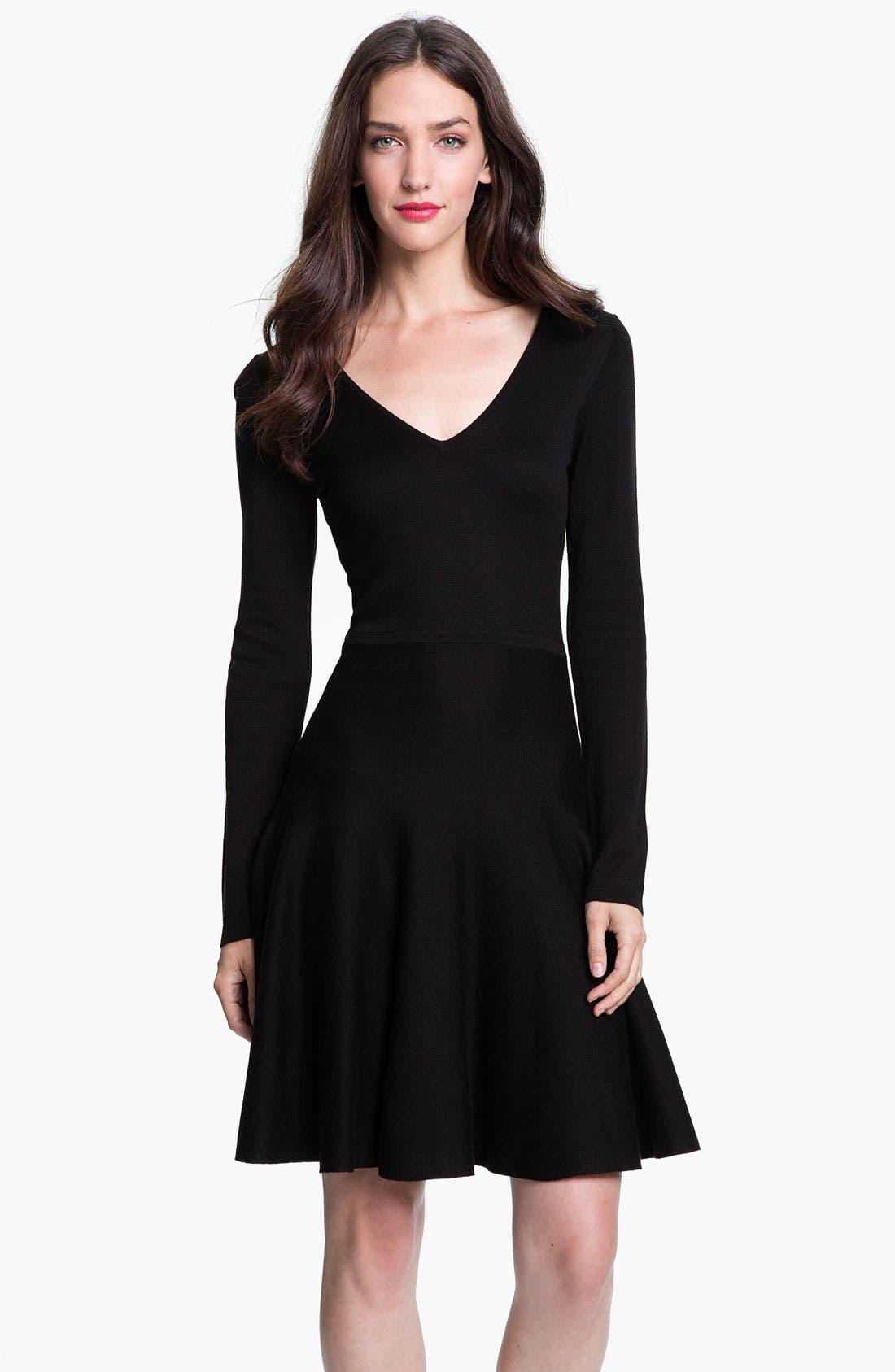 Alternate Image 1 Selected - BCBGMAXAZRIA Silk Blend A-Line Dress