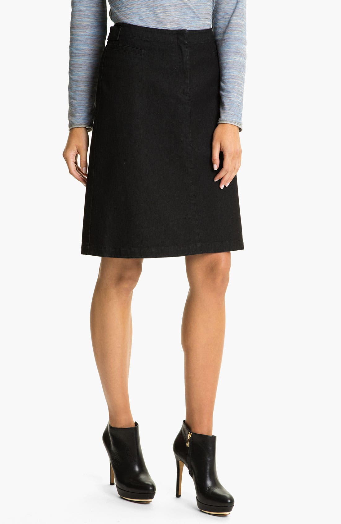 Main Image - Lafayette 148 New York Yarn Dyed Denim Skirt