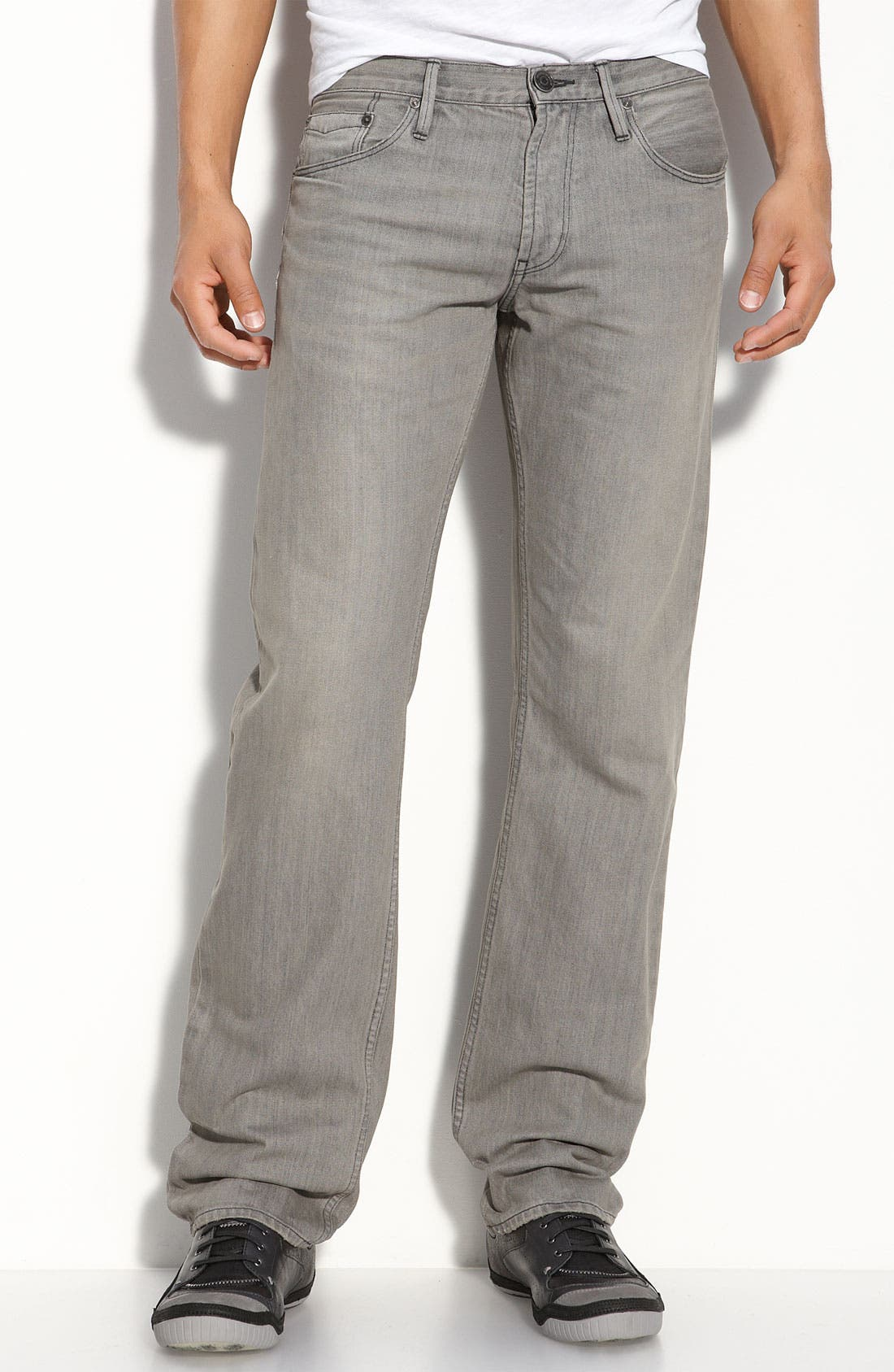 Alternate Image 1 Selected - Burberry Brit Straight Leg Jeans (Grey)