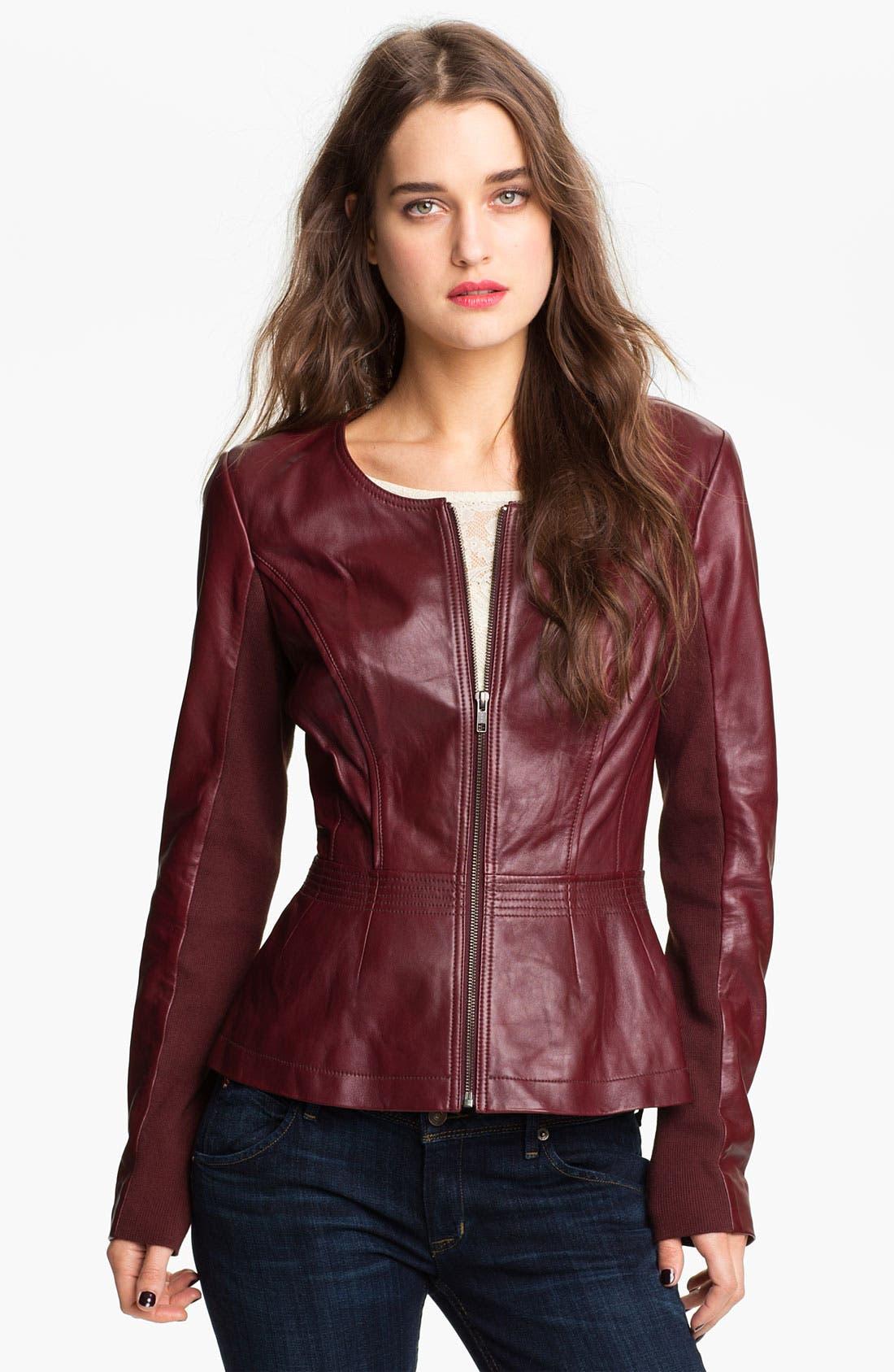 Hinge 174 Leather Peplum Jacket Nordstrom