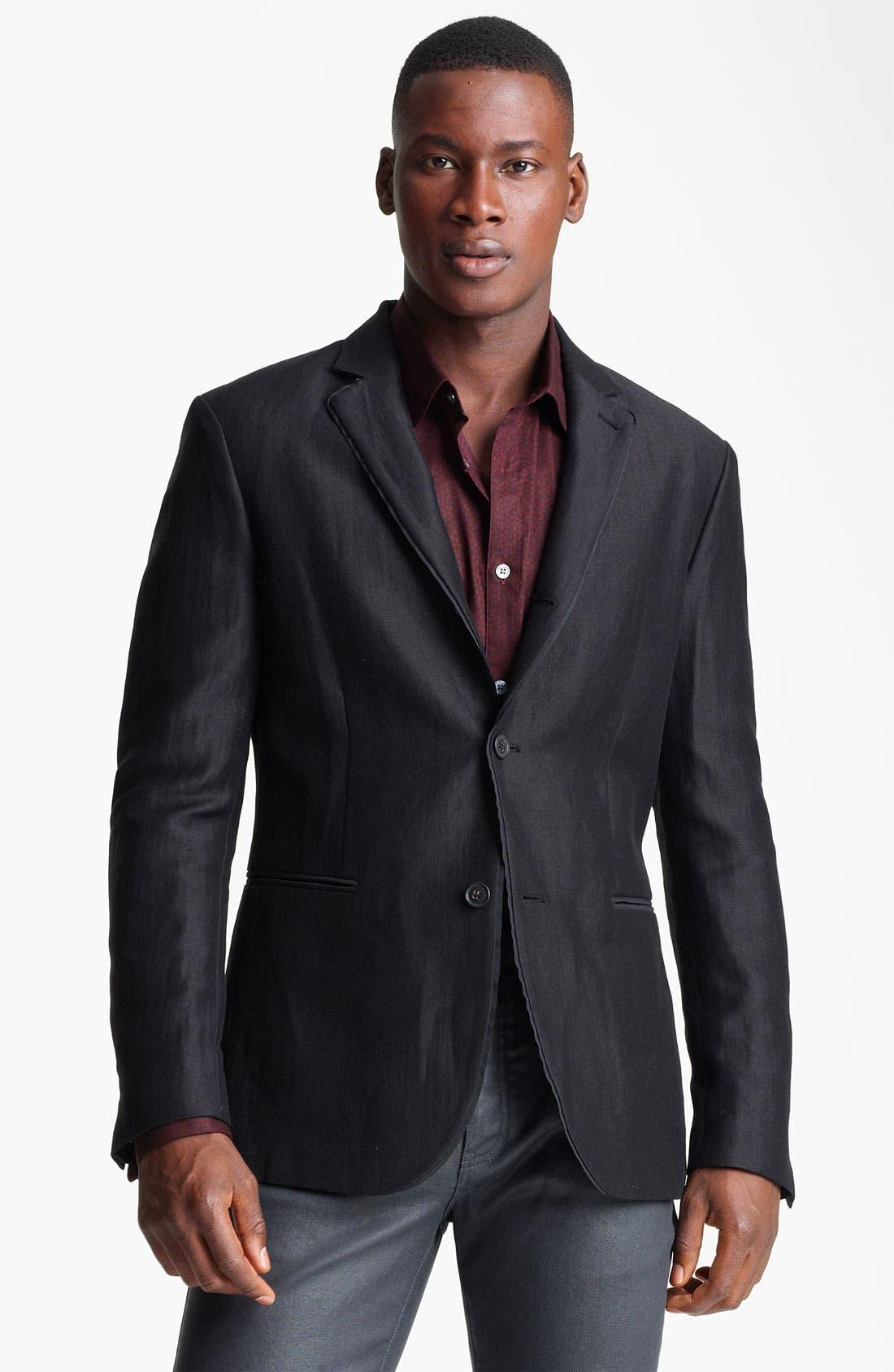 Main Image - John Varvatos Collection Linen & Wool Blazer
