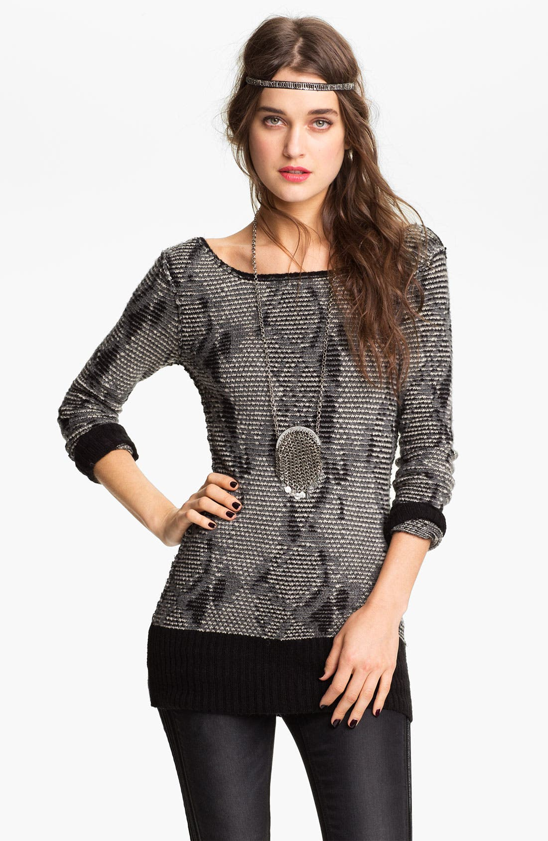 Alternate Image 1 Selected - Free People 'Serpent Trails' V-Back Tunic