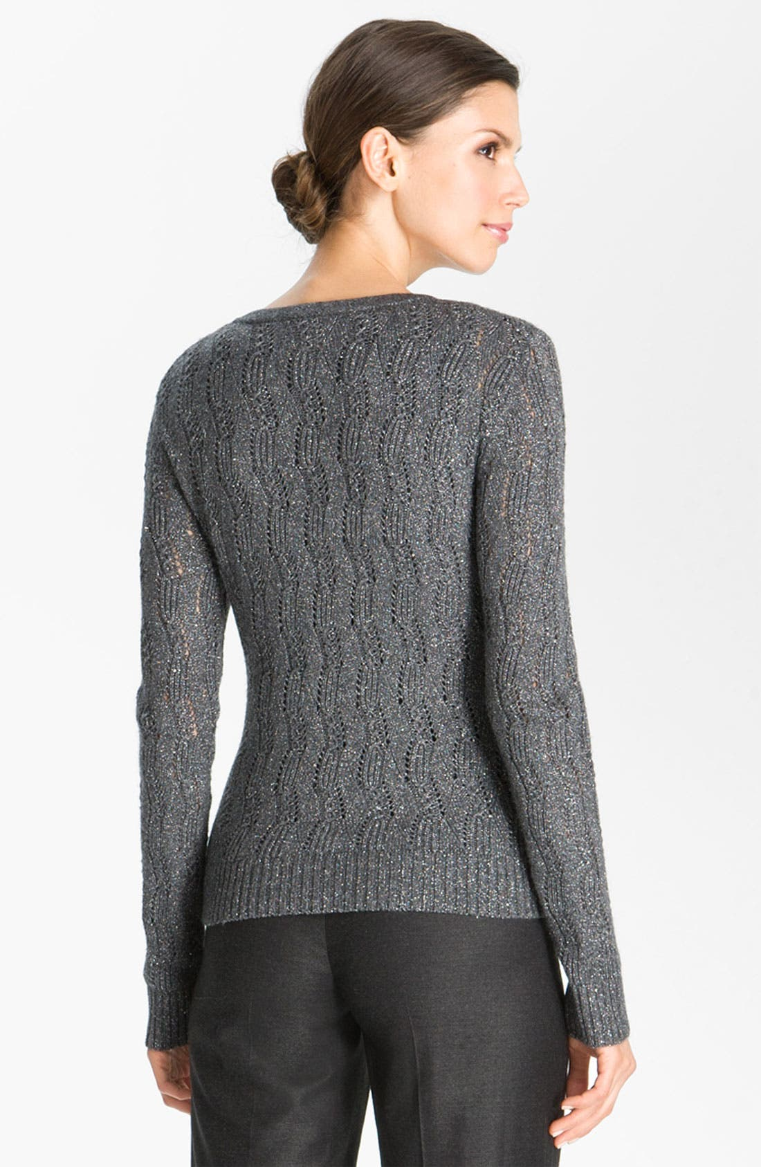 Alternate Image 3  - St. John Collection Lacy Cable Knit Cardigan